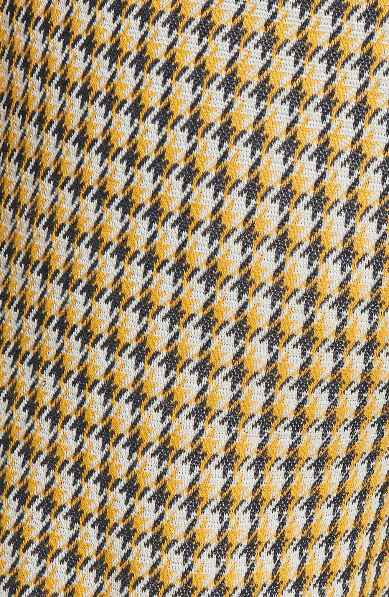 Luc Houndstooth Wide Leg Pants,                             Alternate thumbnail 5, color,                             YELLOW/ MIDNIGHT