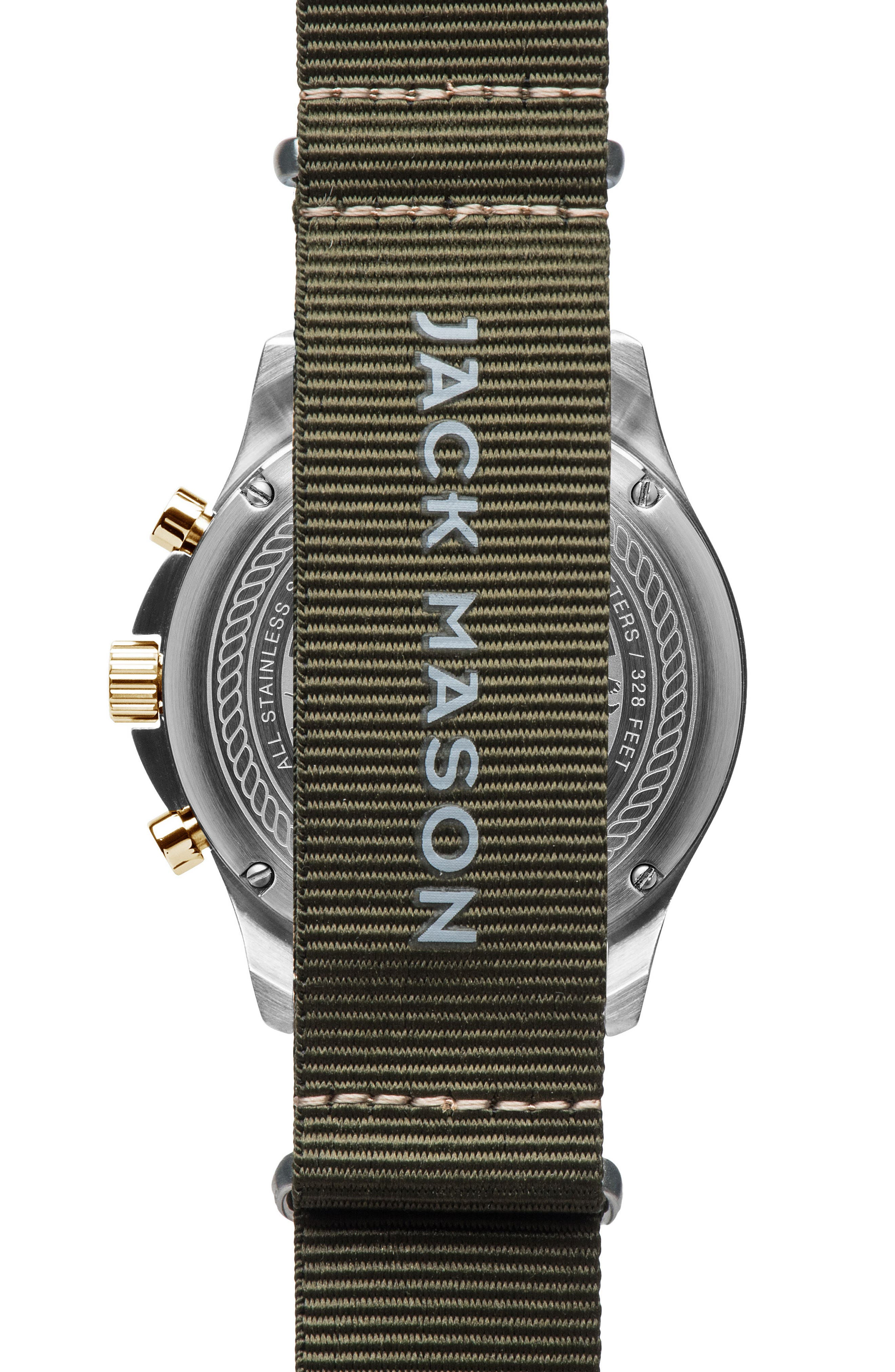 Field Chronograph NATO Strap Watch, 42mm,                             Alternate thumbnail 2, color,                             001