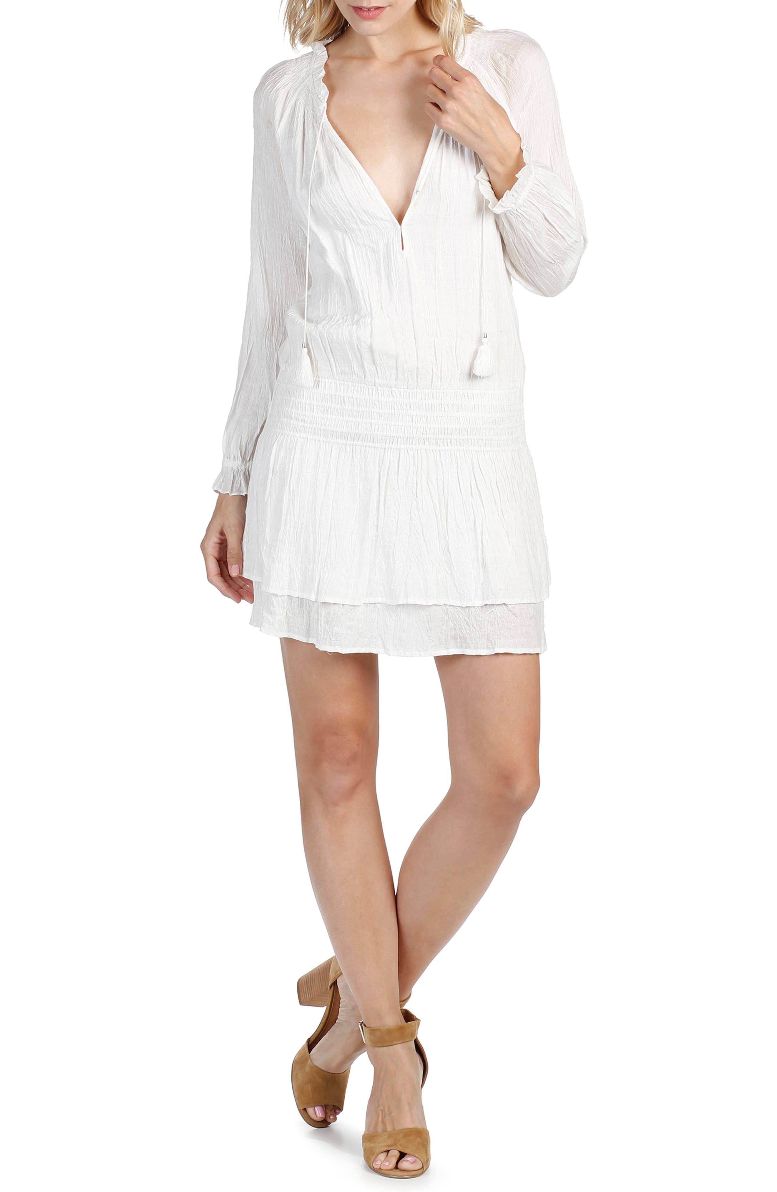 Lemay Dress,                             Alternate thumbnail 5, color,                             WHITE