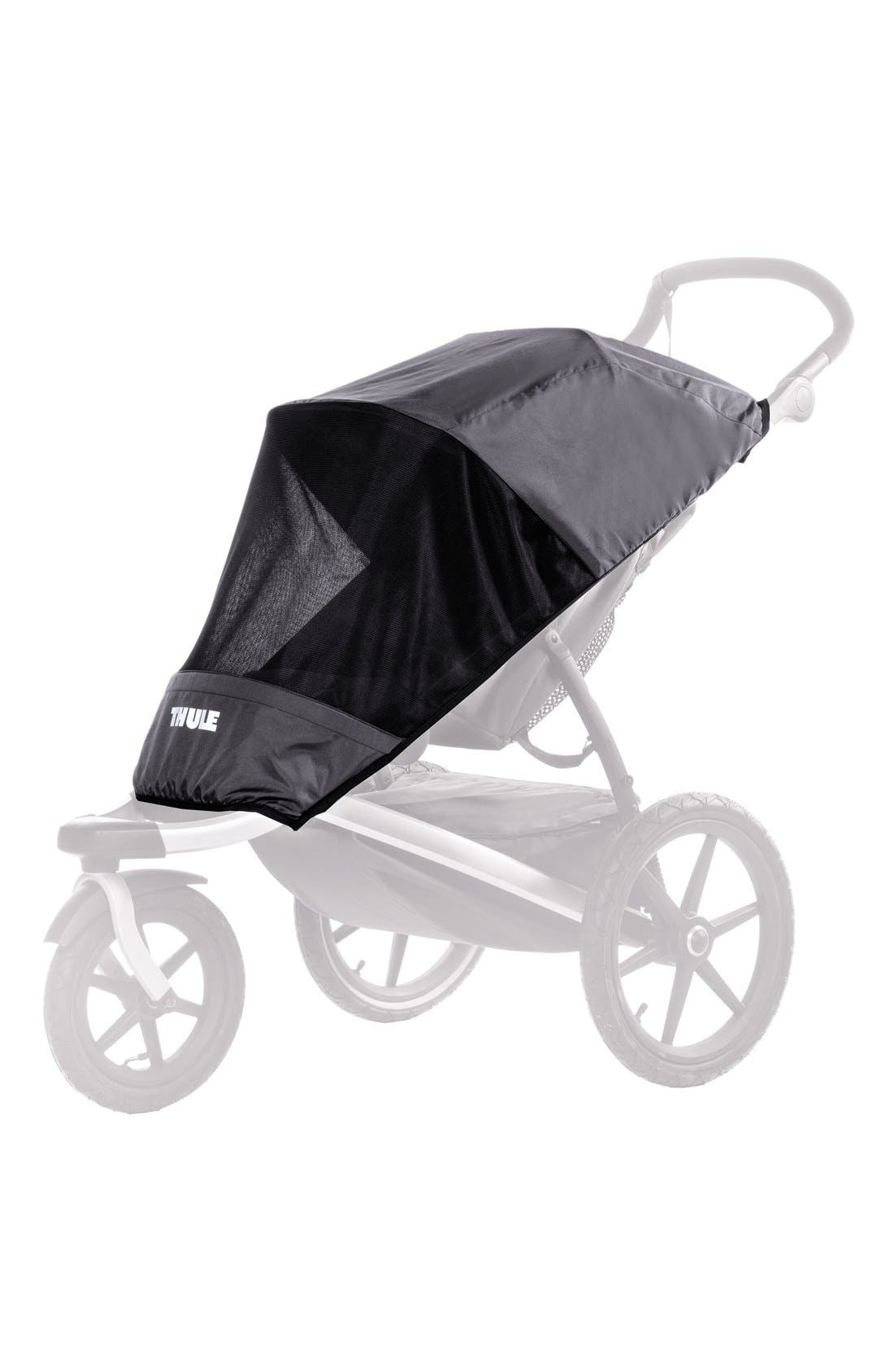 Glide Series Mesh Stroller Cover,                         Main,                         color, DARK SHADOW