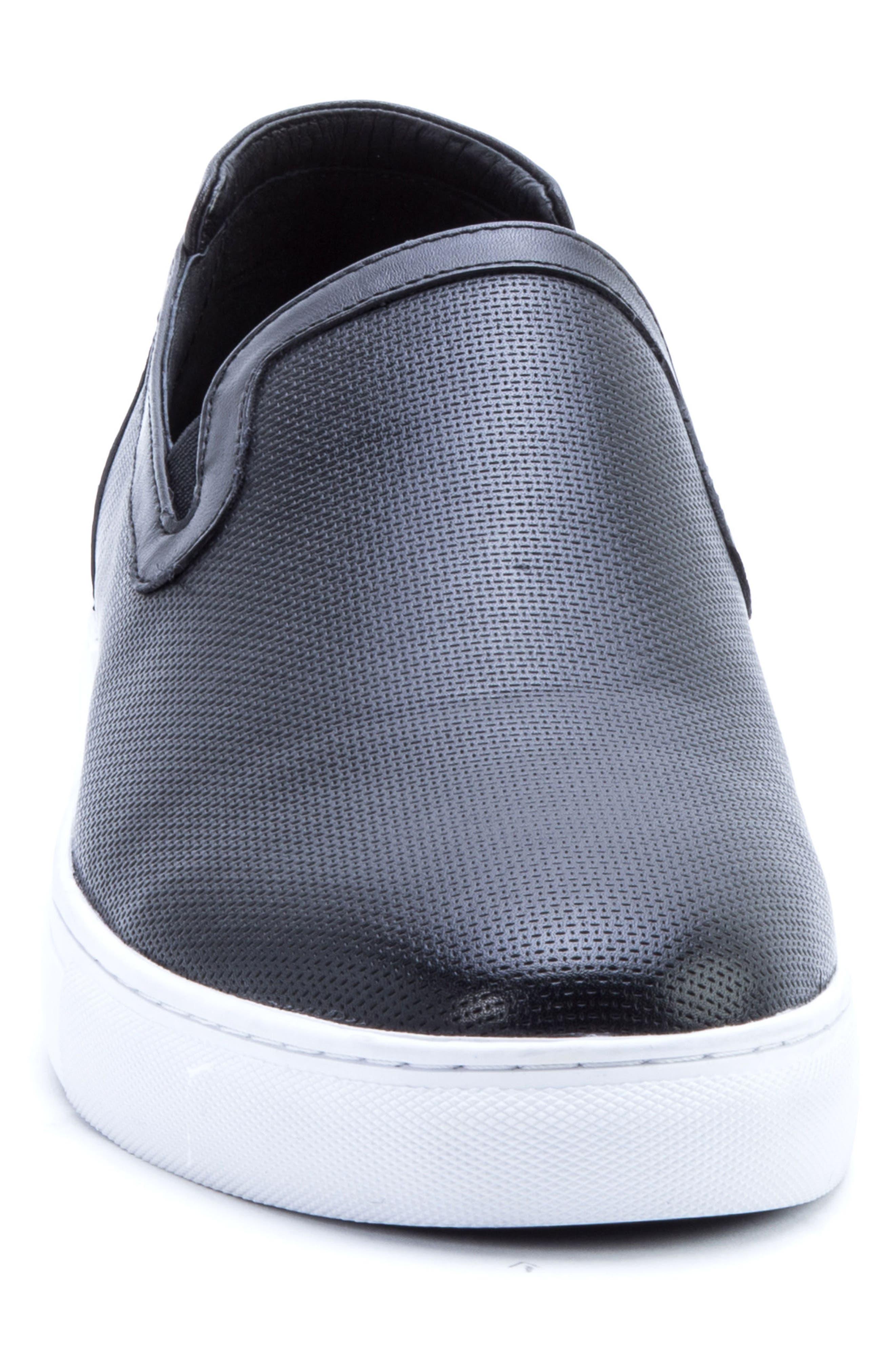 Grant Sneaker,                             Alternate thumbnail 4, color,                             BLACK LEATHER