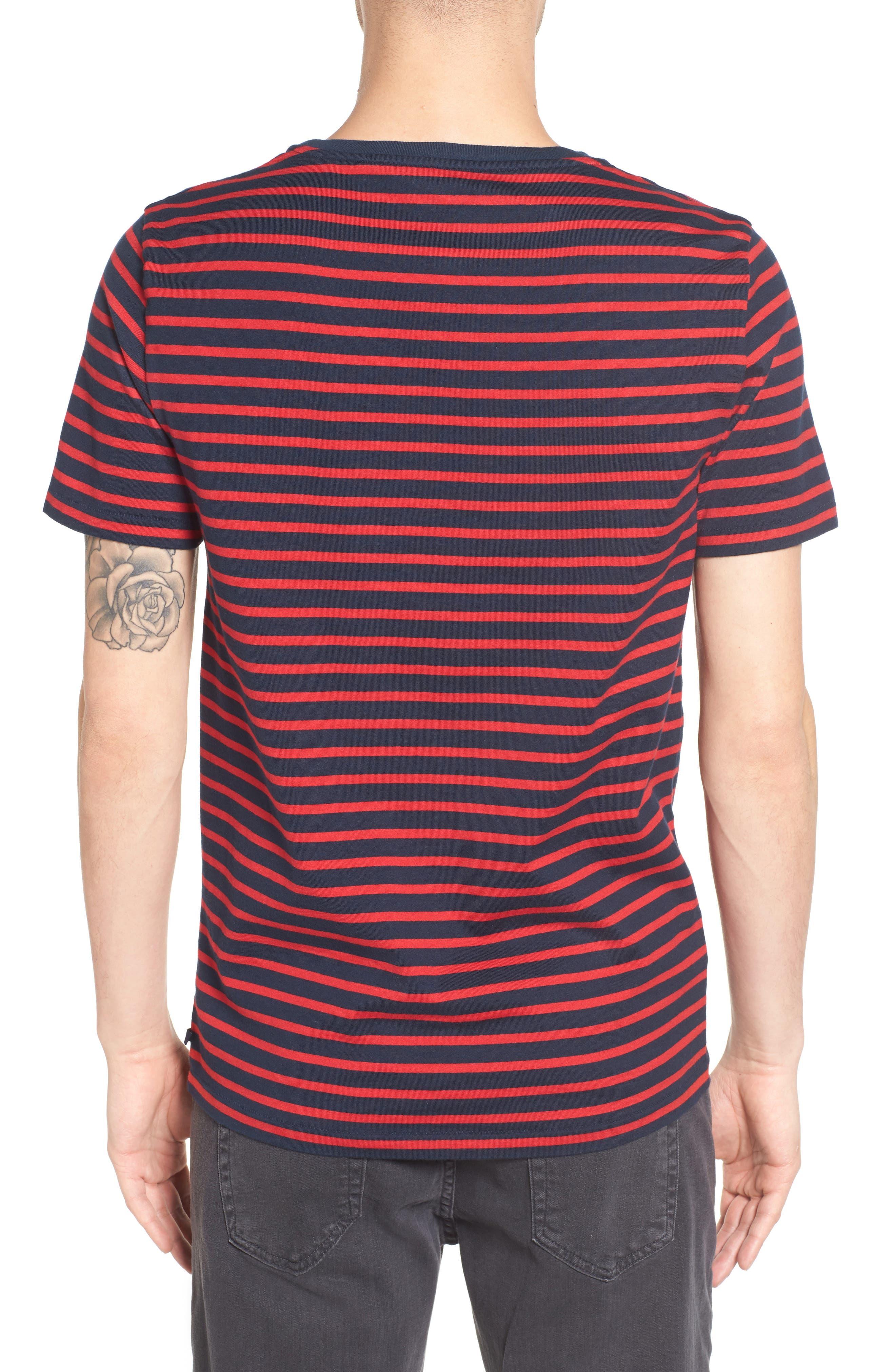 Julian Stripe Crewneck T-Shirt,                             Alternate thumbnail 4, color,