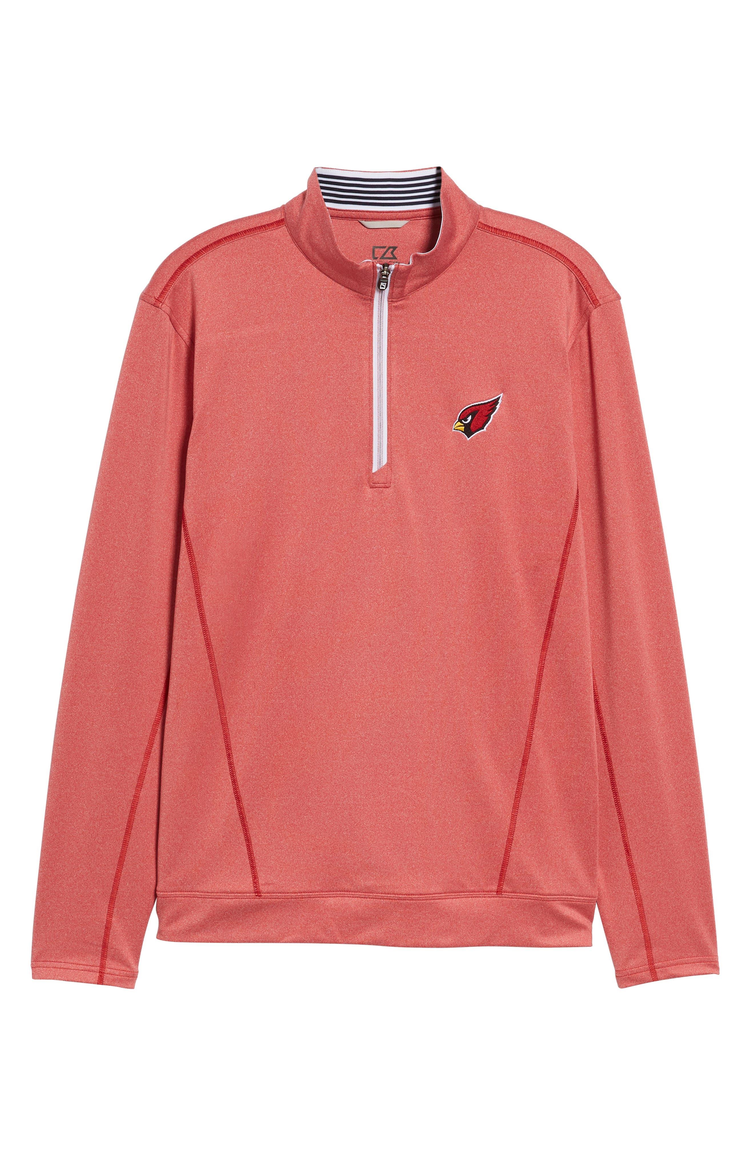 Endurance Arizona Cardinals Regular Fit Pullover,                             Alternate thumbnail 6, color,                             CARDINAL RED HEATHER