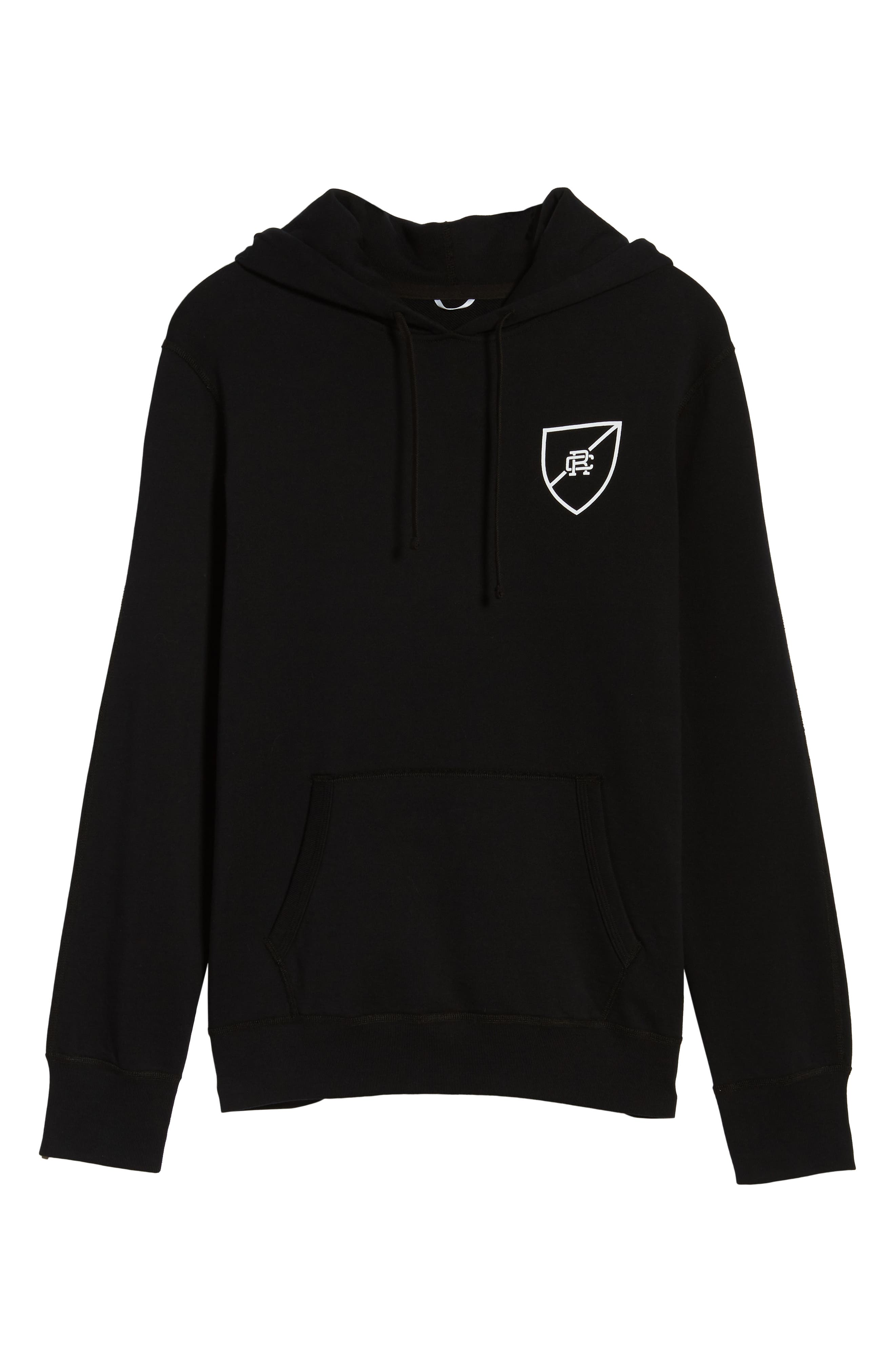 Shield Logo Hooded Pullover,                             Alternate thumbnail 6, color,                             003