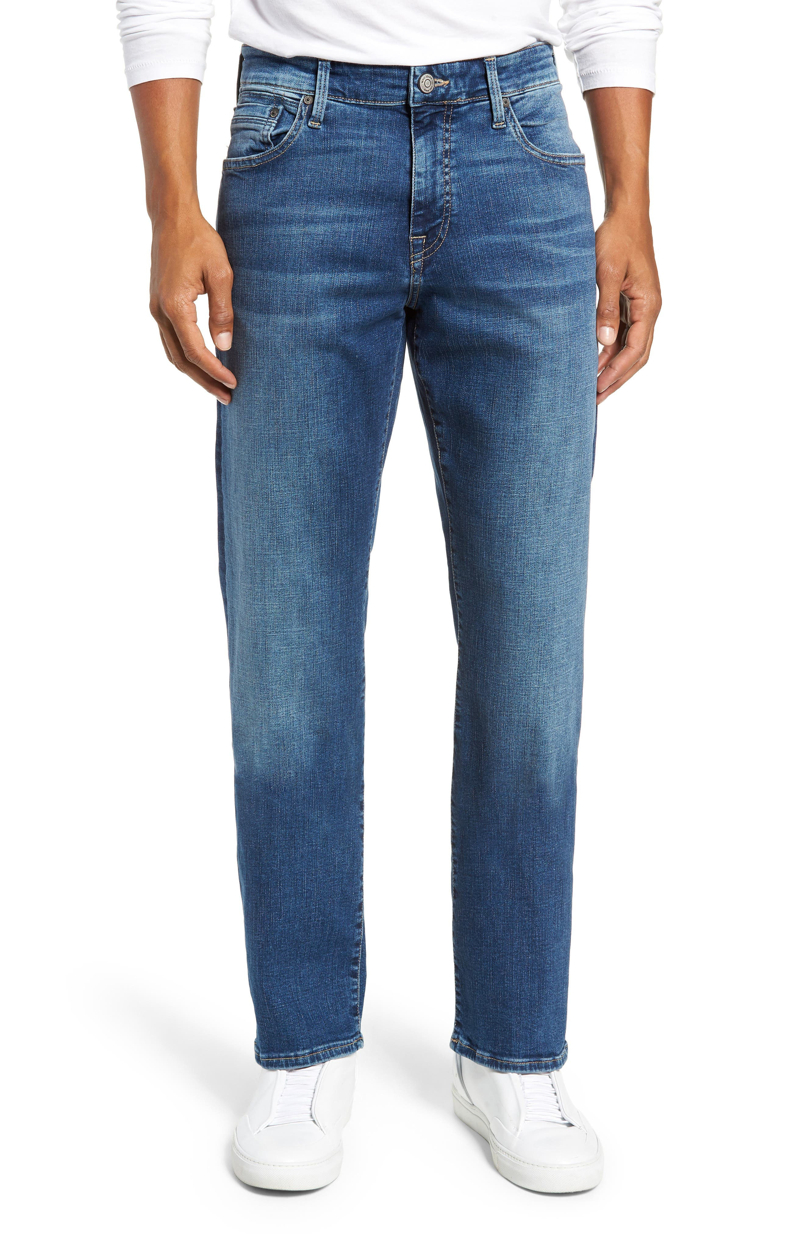 Matt Relaxed Straight Leg Jeans,                             Main thumbnail 1, color,                             MID BRUSHED CASHMERE