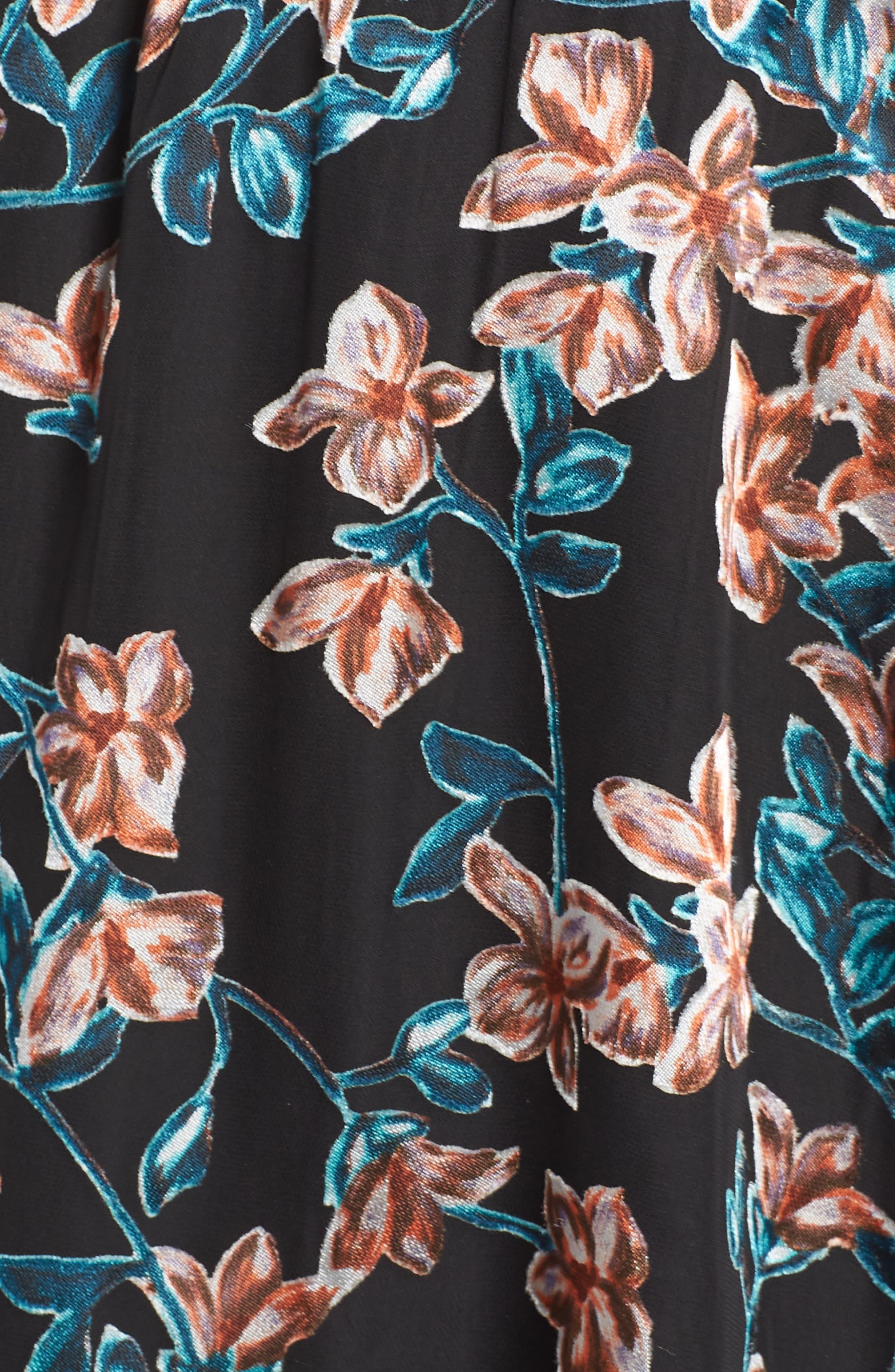 ALI & JAY,                             Treat Me Like a Lady Floral Dress,                             Alternate thumbnail 6, color,                             FLORAL BURNOUT