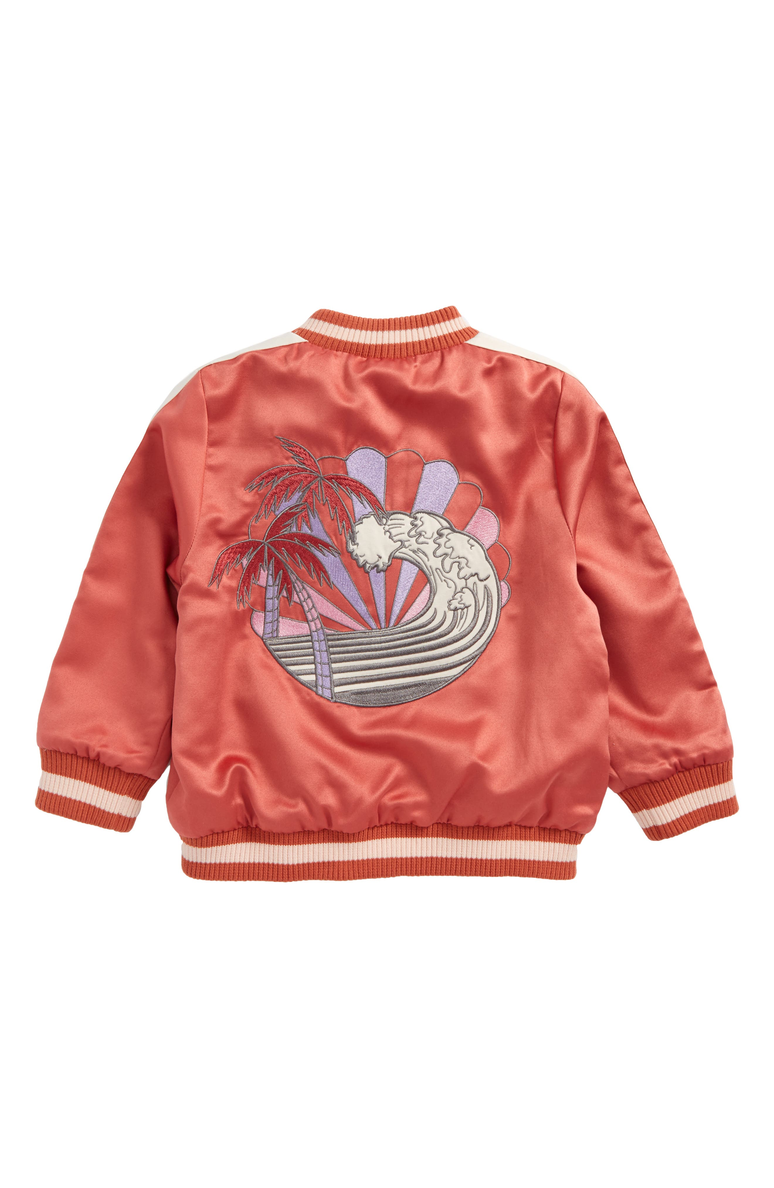 Willow Embroidered Reversible Bomber Jacket,                             Alternate thumbnail 3, color,