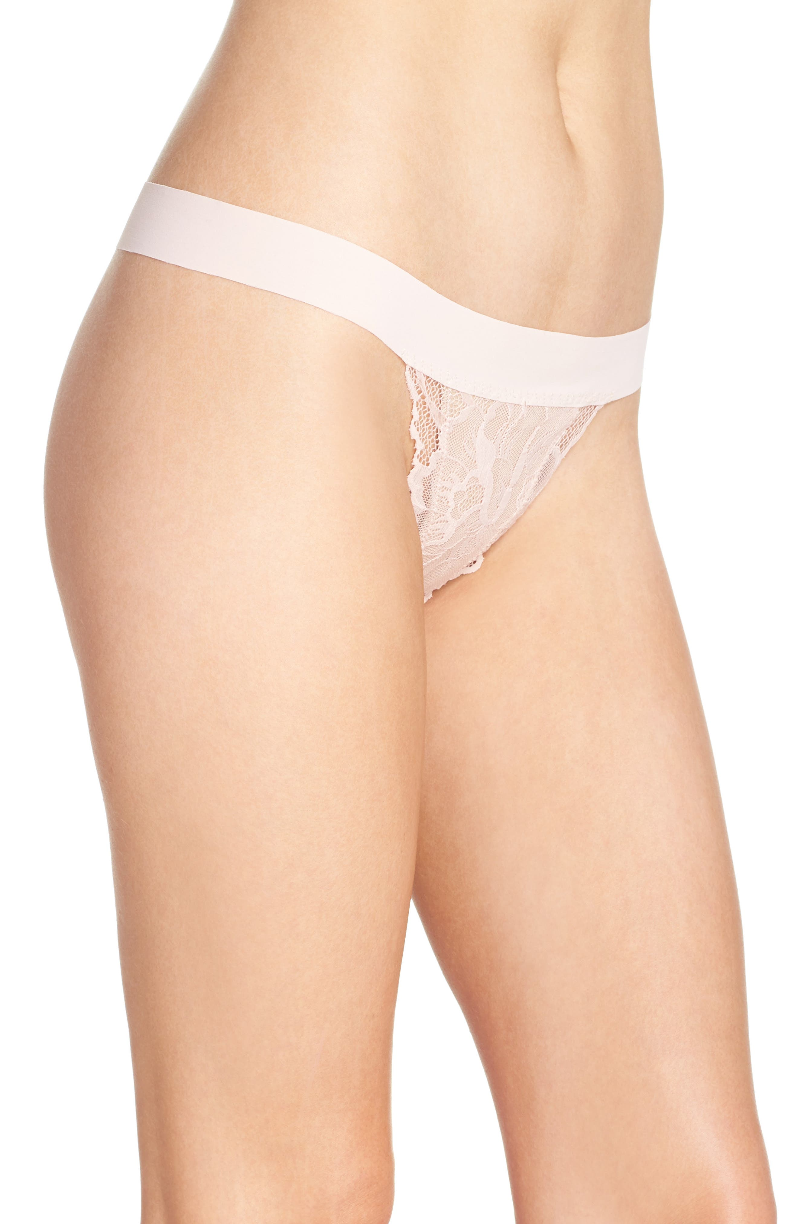 'Double Take' Lace G-String Thong,                             Alternate thumbnail 21, color,