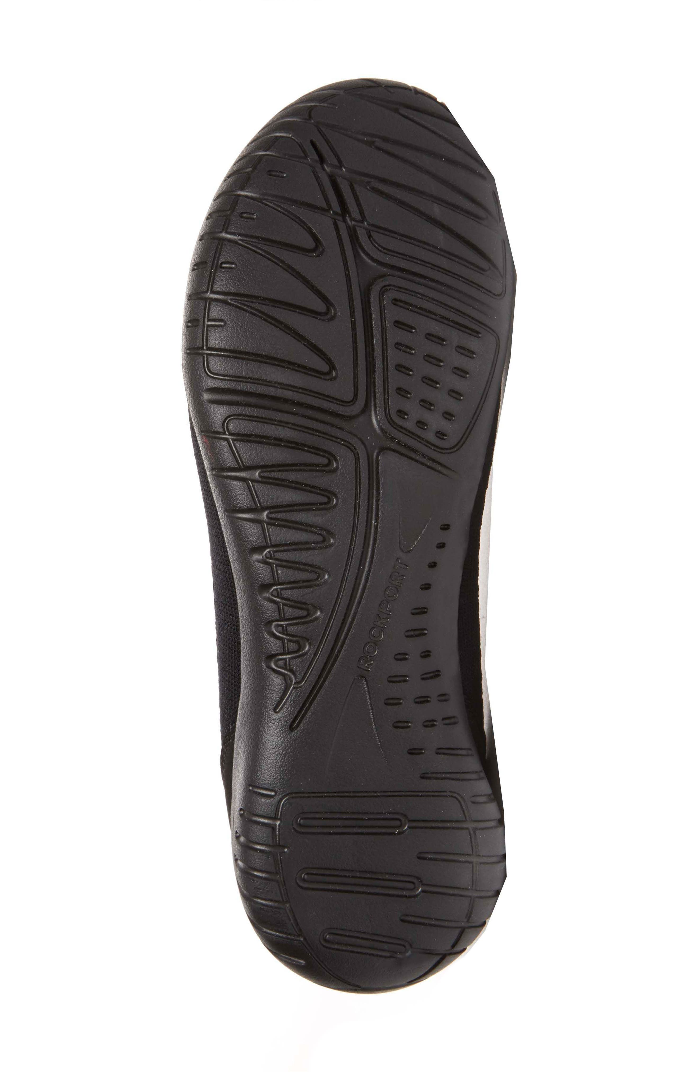 Raelyn Knit Ballet Sneaker,                             Alternate thumbnail 4, color,                             BLACK FABRIC