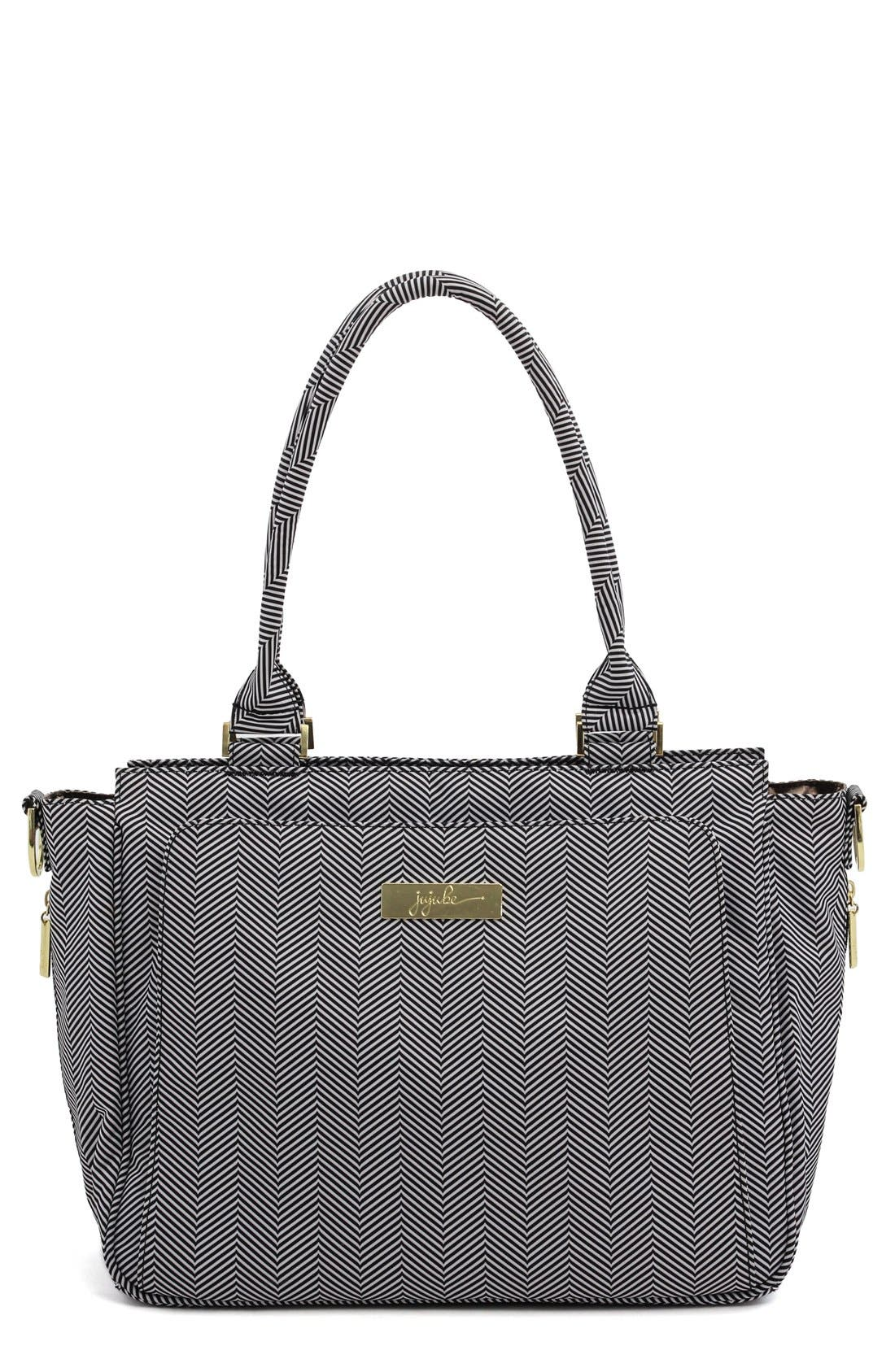 'Be Classy' Messenger Diaper Bag,                         Main,                         color, THE QUEEN OF THE NILE
