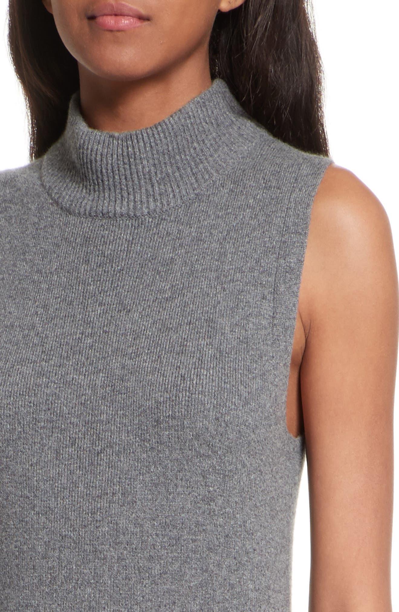 Ace Cashmere Mock Neck Sweater Dress,                             Alternate thumbnail 4, color,                             060