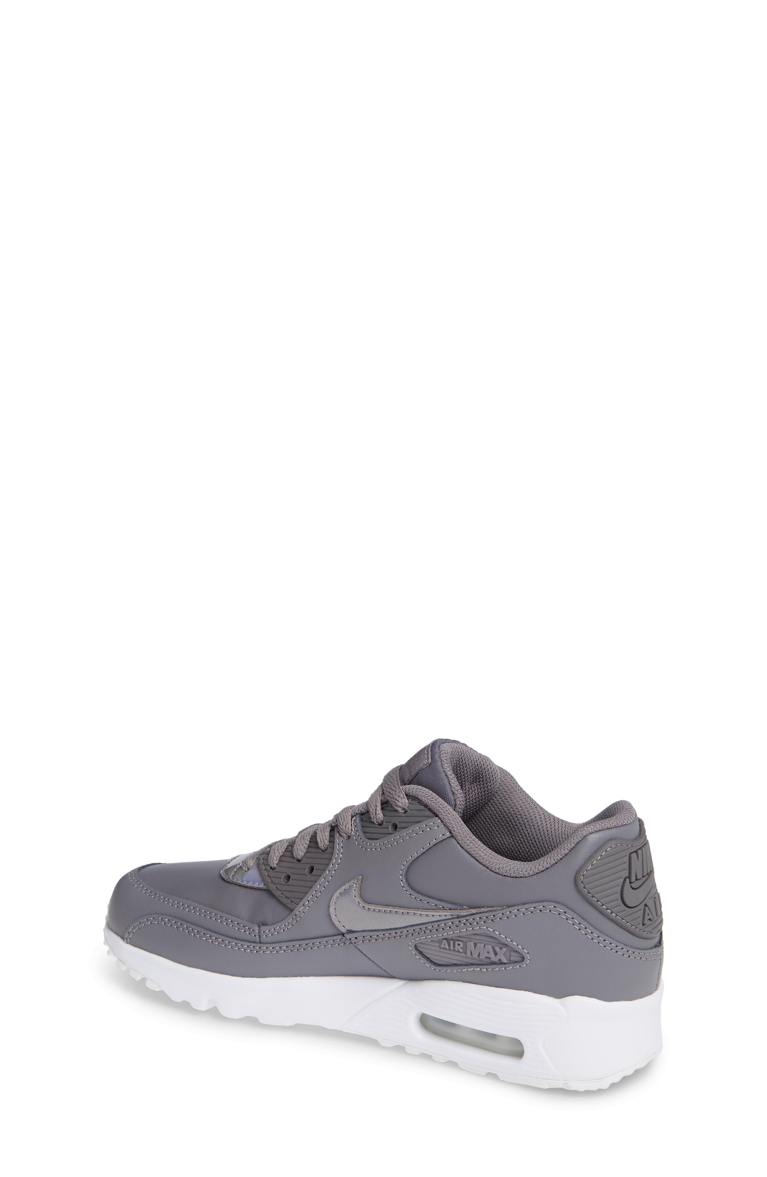 'Air Max 90' Sneaker,                             Alternate thumbnail 2, color,                             GUNSMOKE/ WHITE