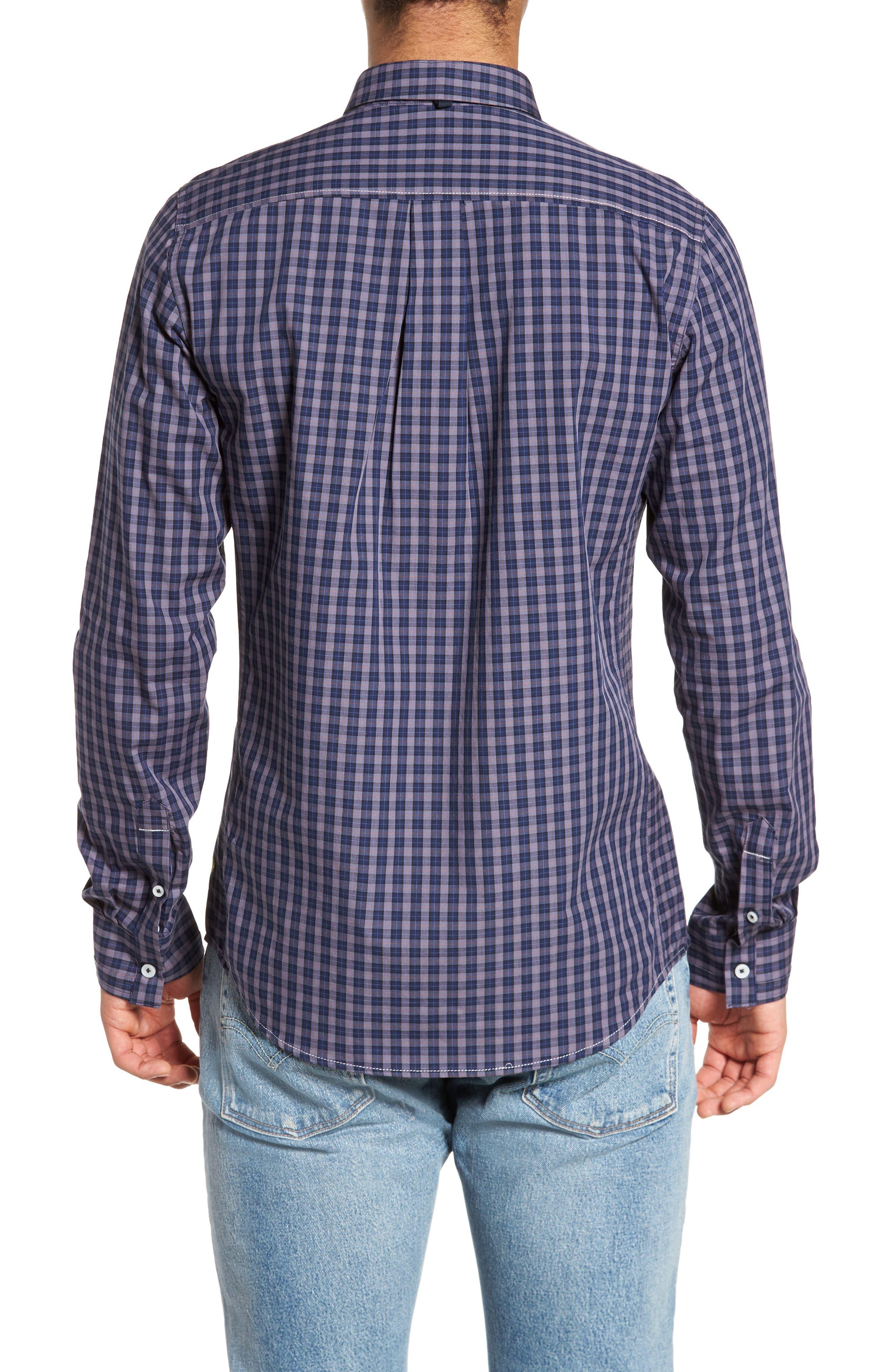 Tinto Plaid Sport Shirt,                             Alternate thumbnail 2, color,