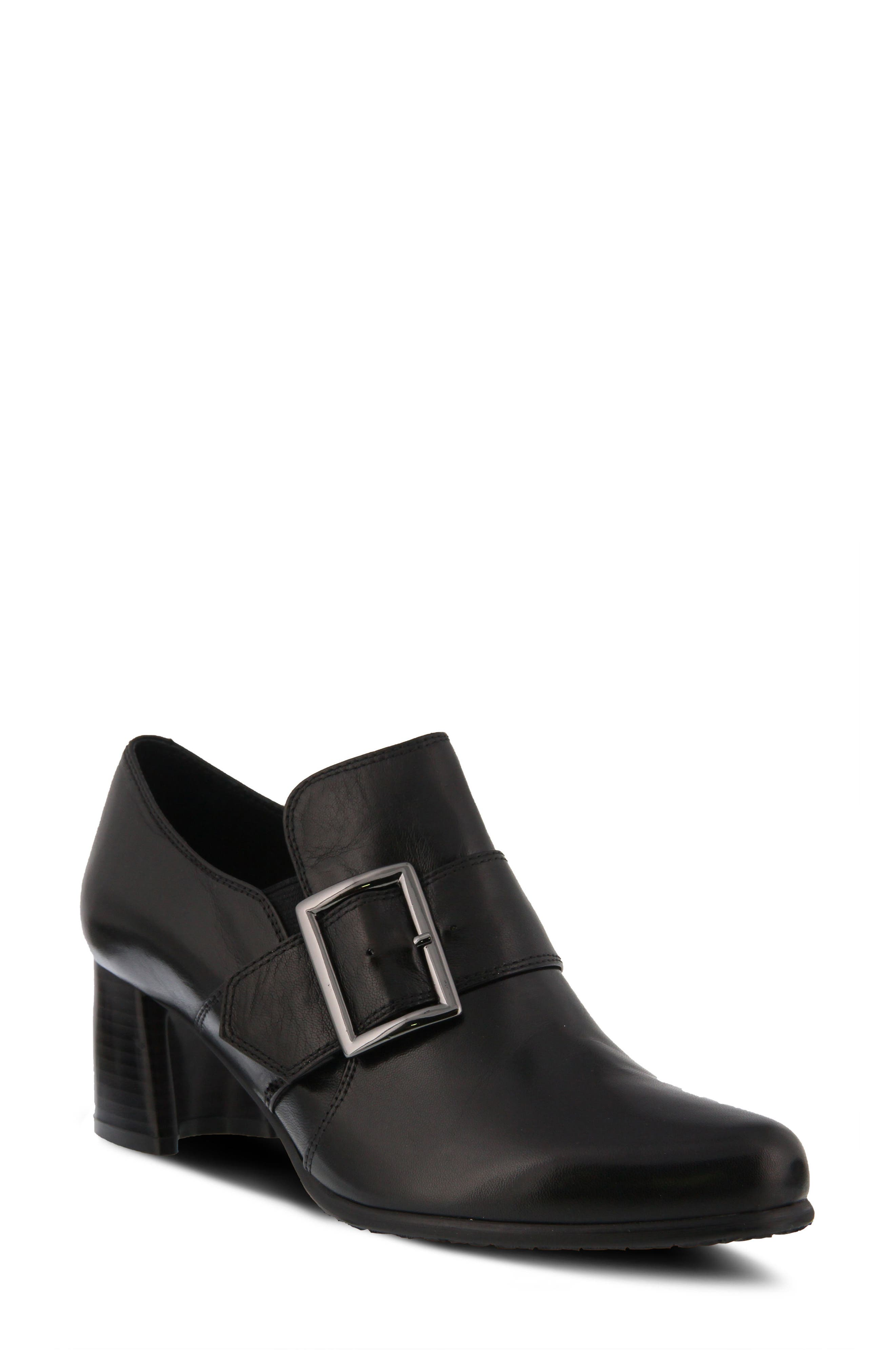 Dayana Bootie,                             Main thumbnail 1, color,                             BLACK LEATHER