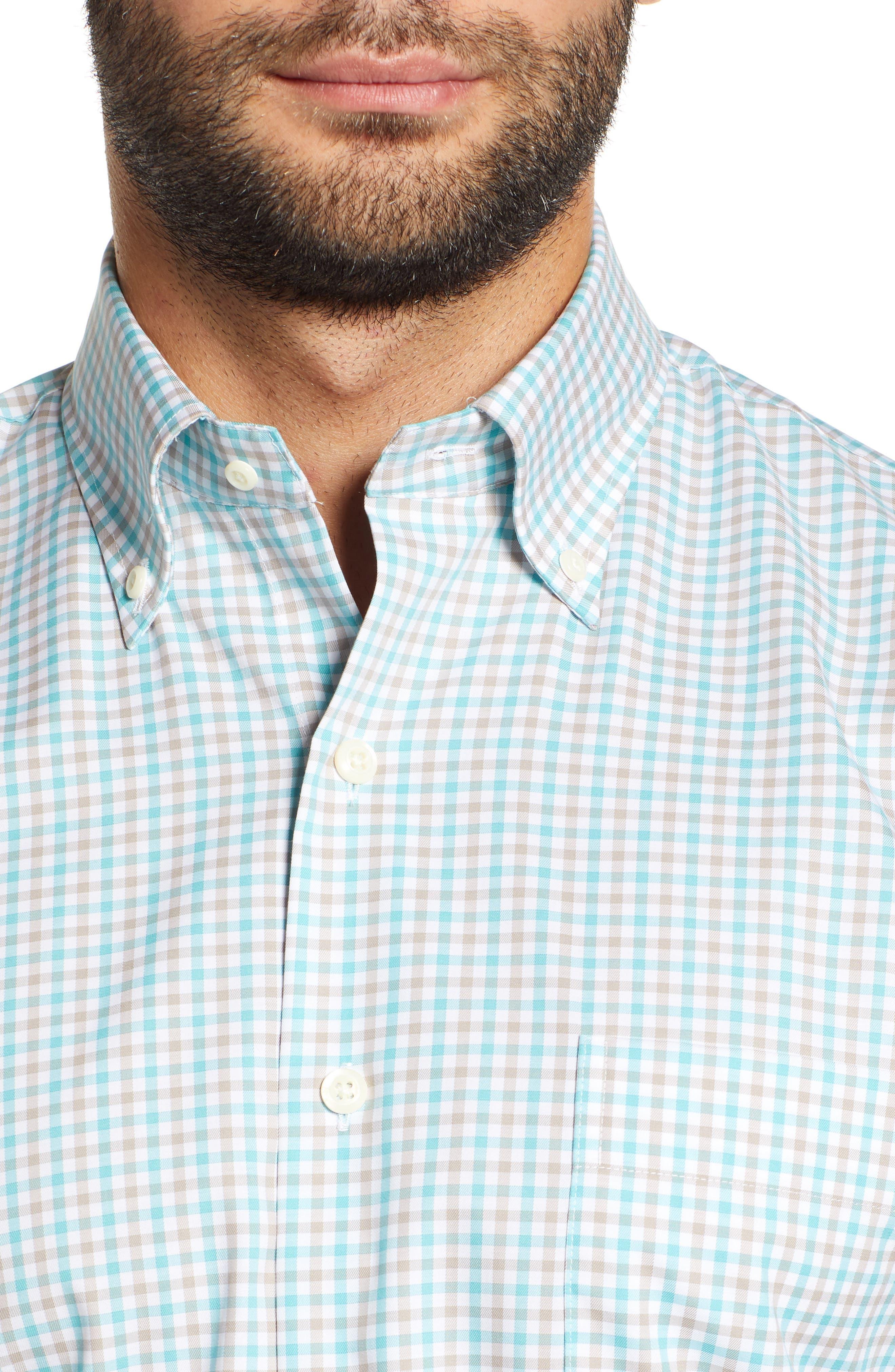 Crown Ease Marketplace Regular Fit Check Sport Shirt,                             Alternate thumbnail 2, color,                             GREEN