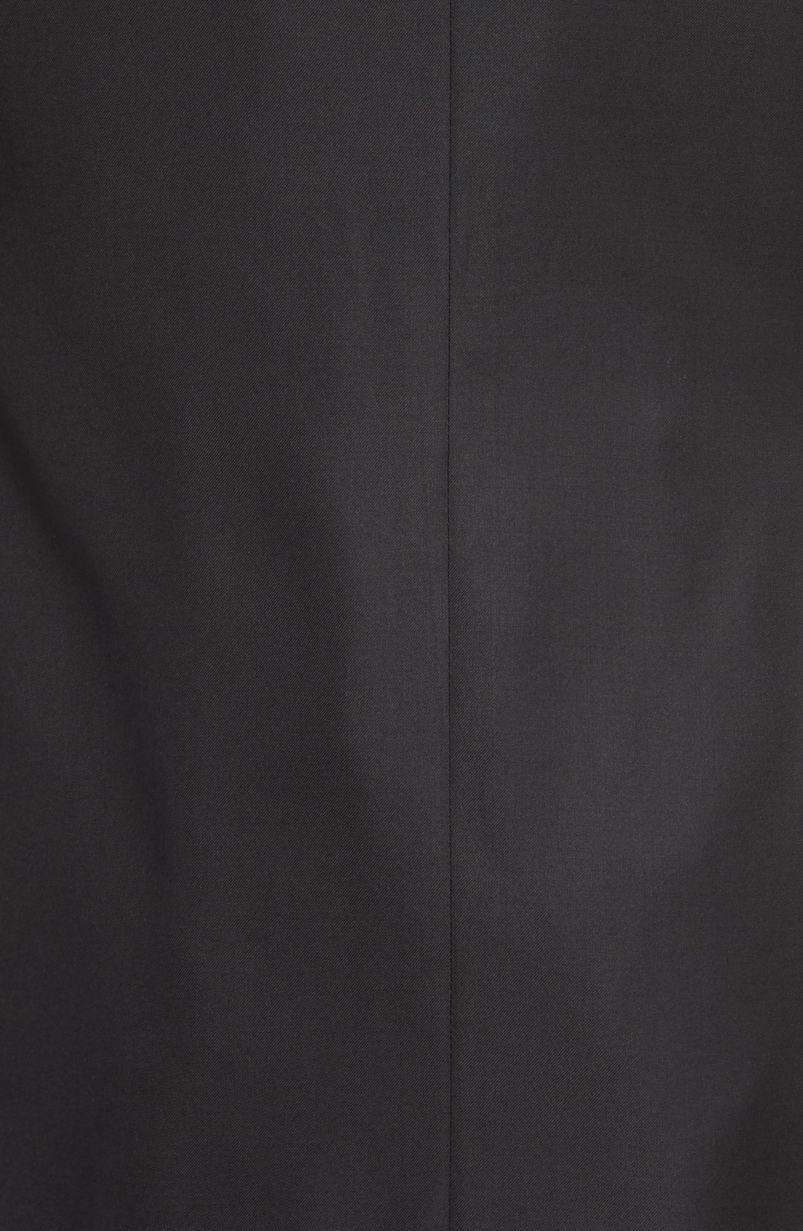 Classic B Fit Wool Tuxedo,                             Alternate thumbnail 7, color,                             BLACK