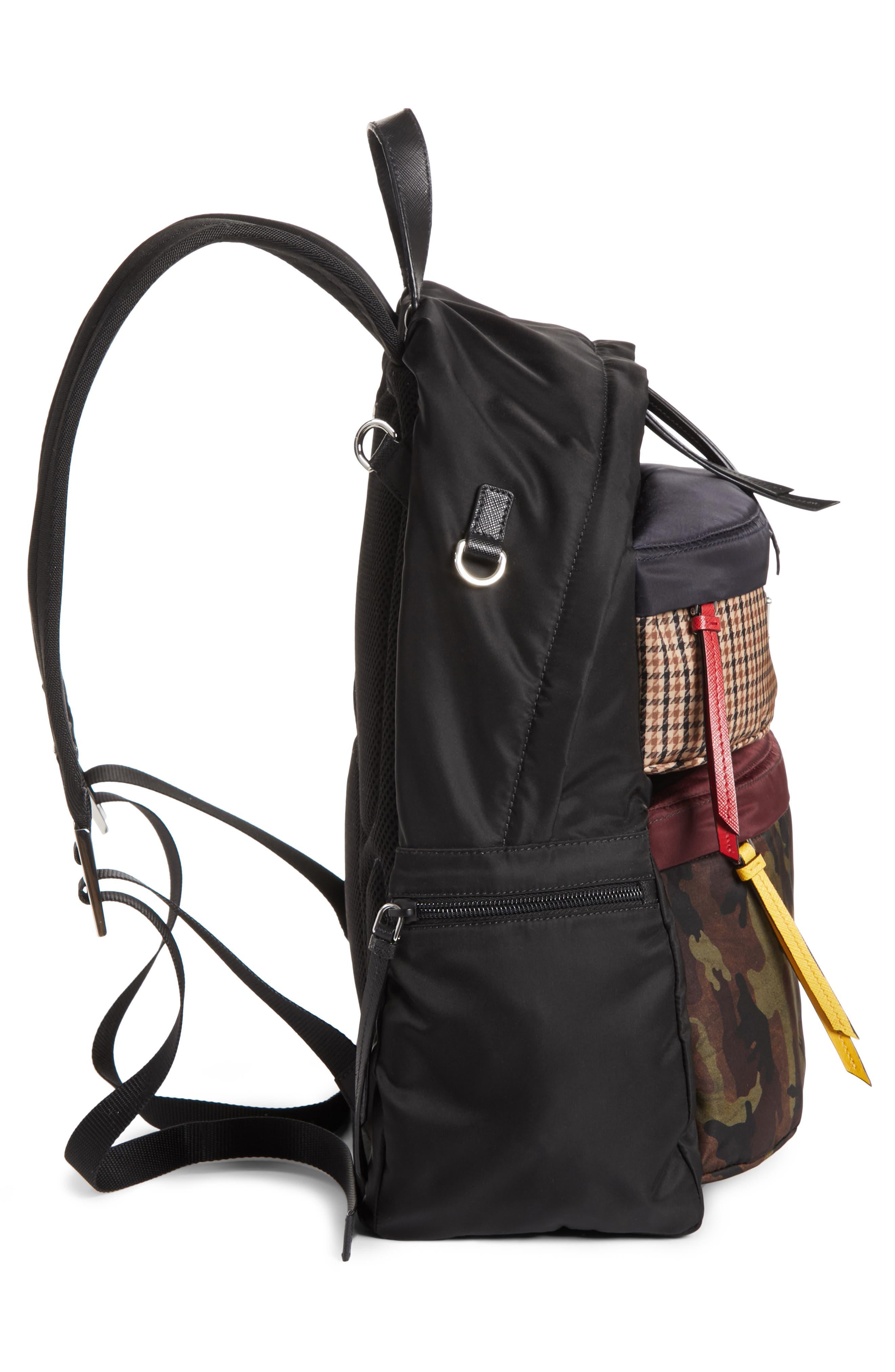 Tessuto Camo Patch Nylon Backpack,                             Alternate thumbnail 5, color,                             CAMO