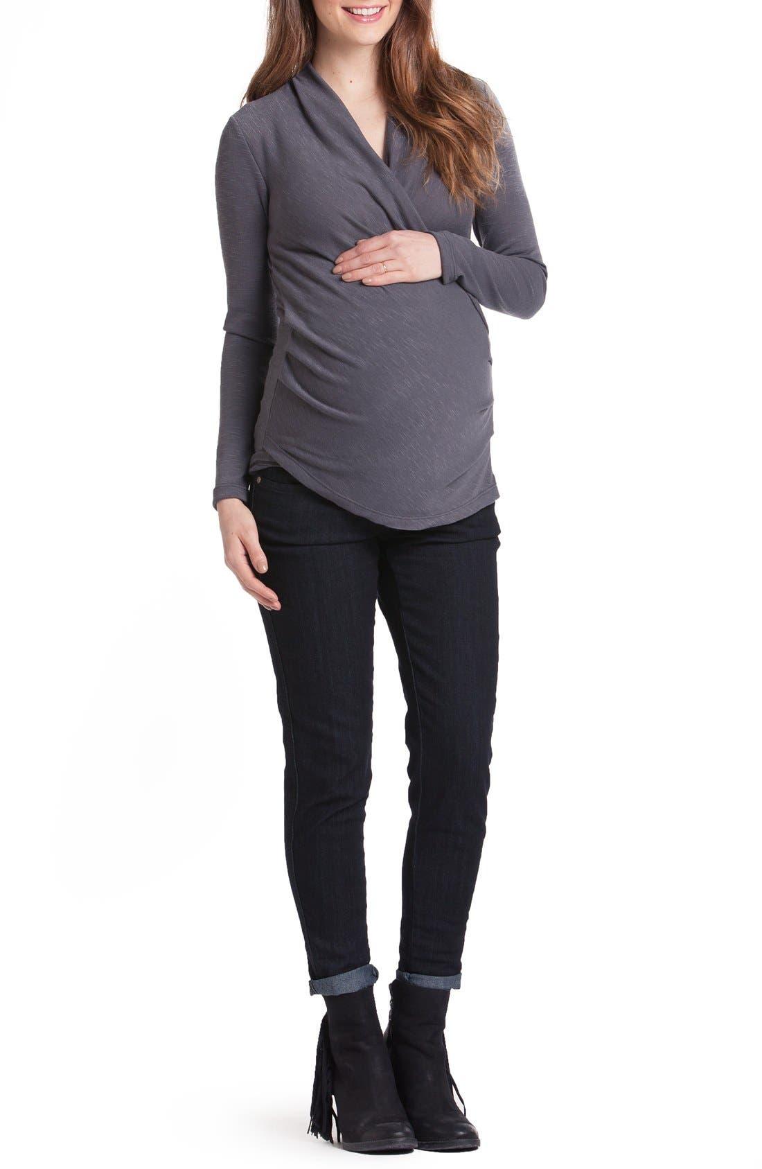 Karen Surplice Maternity/Nursing Top,                         Main,                         color, 030