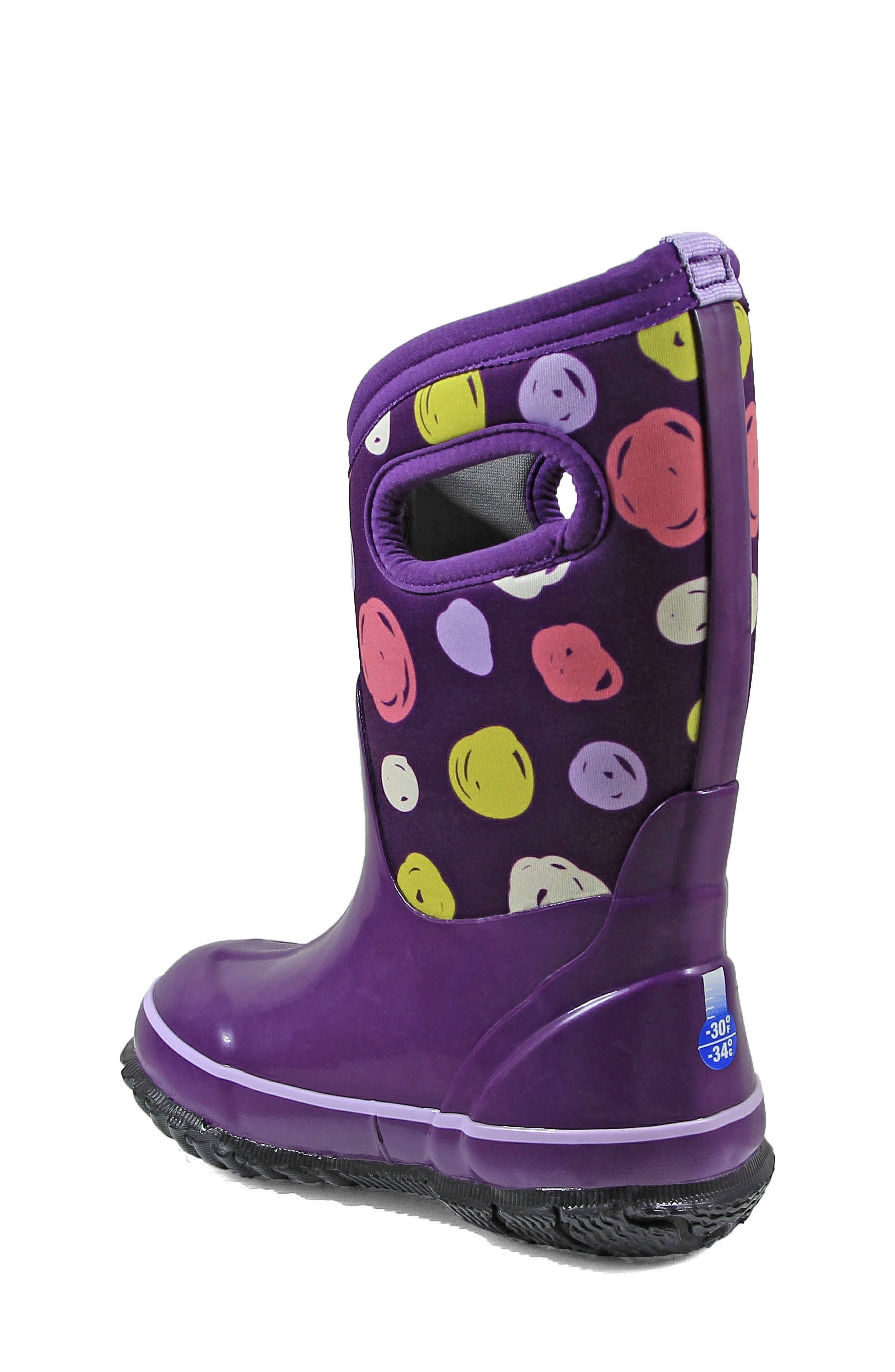 Classic Sketched Dots Insulated Waterproof Boot,                             Alternate thumbnail 4, color,