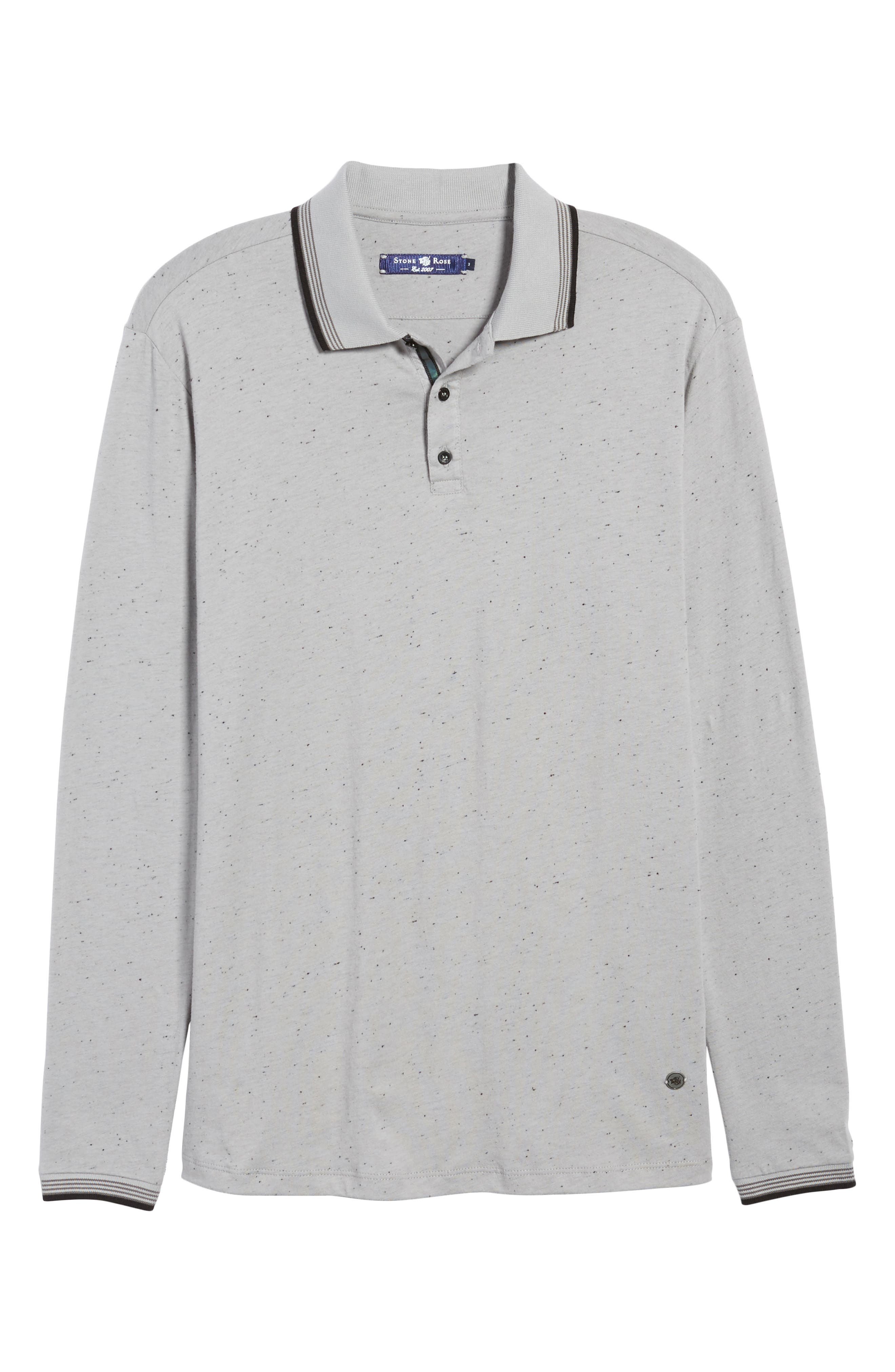 Speckle Knit Long Sleeve Polo,                             Alternate thumbnail 11, color,