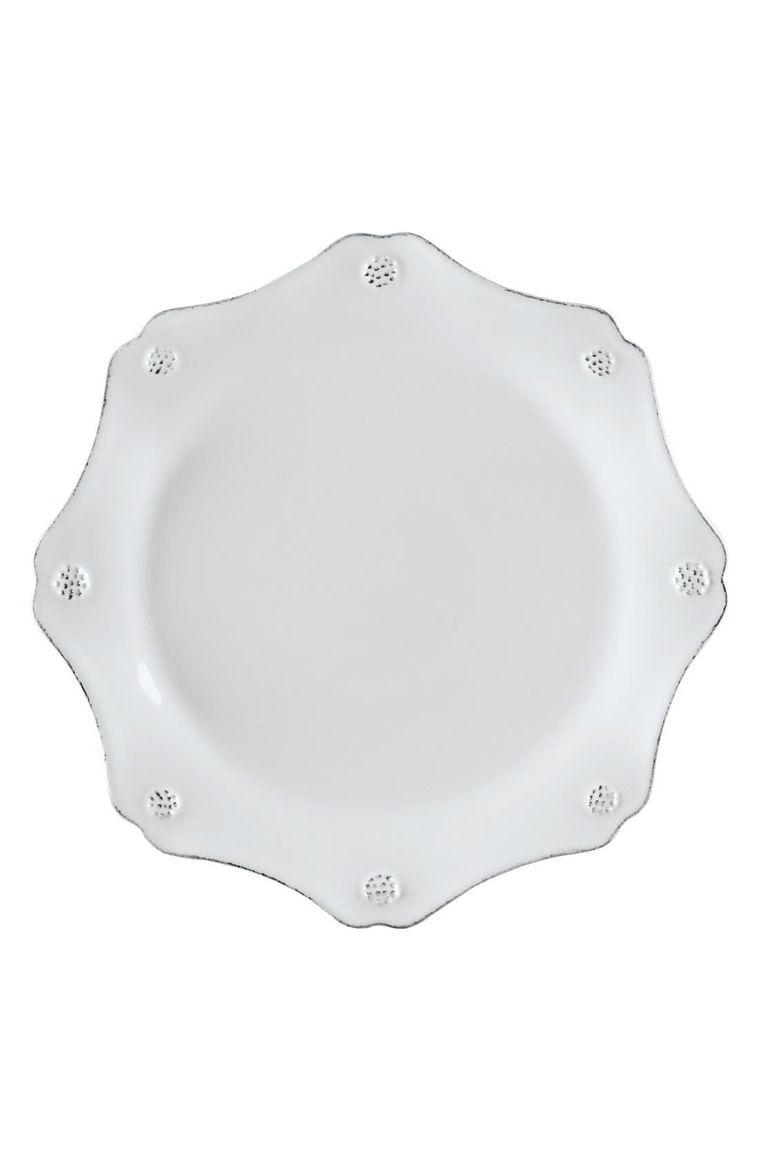 'Berry and Thread' Scalloped Salad Plate,                             Main thumbnail 1, color,                             WHITEWASH
