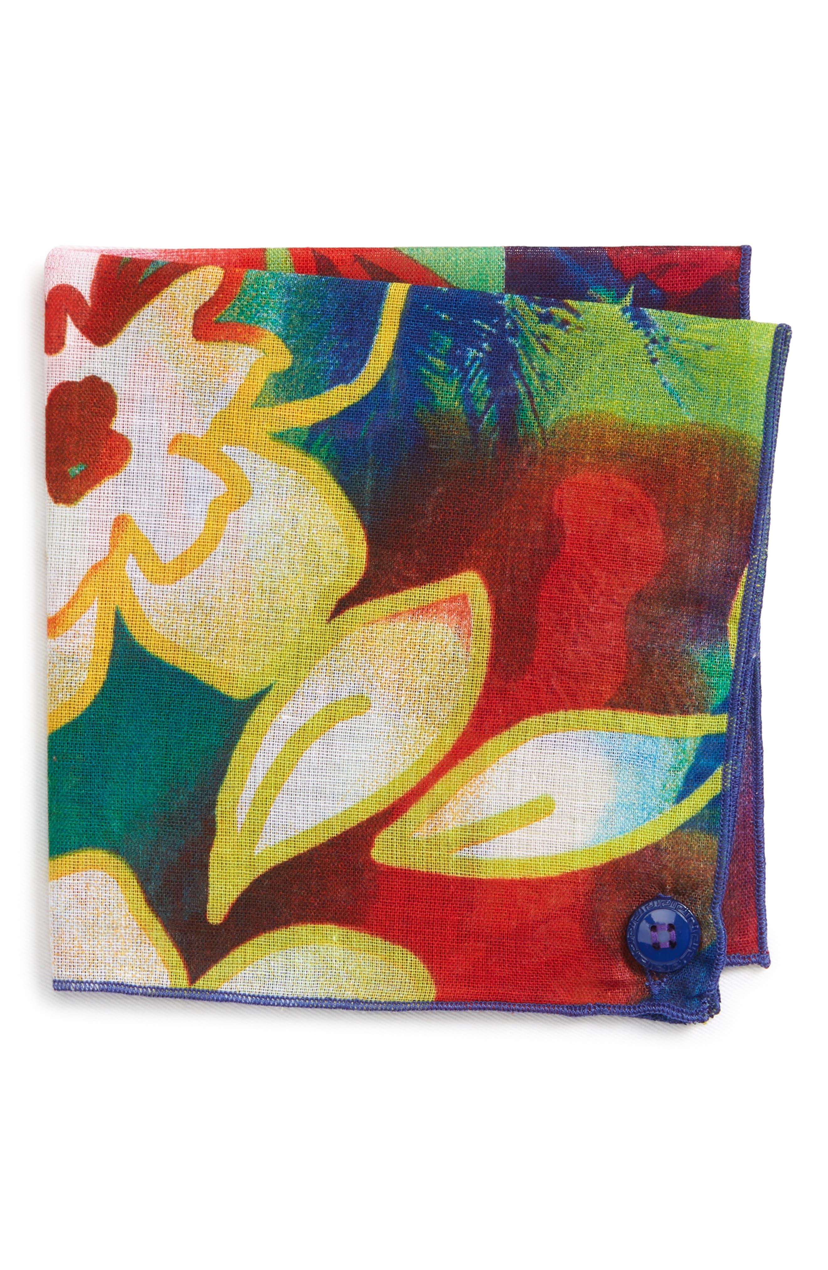 Hawaii Cotton Pocket Square,                             Main thumbnail 1, color,                             500