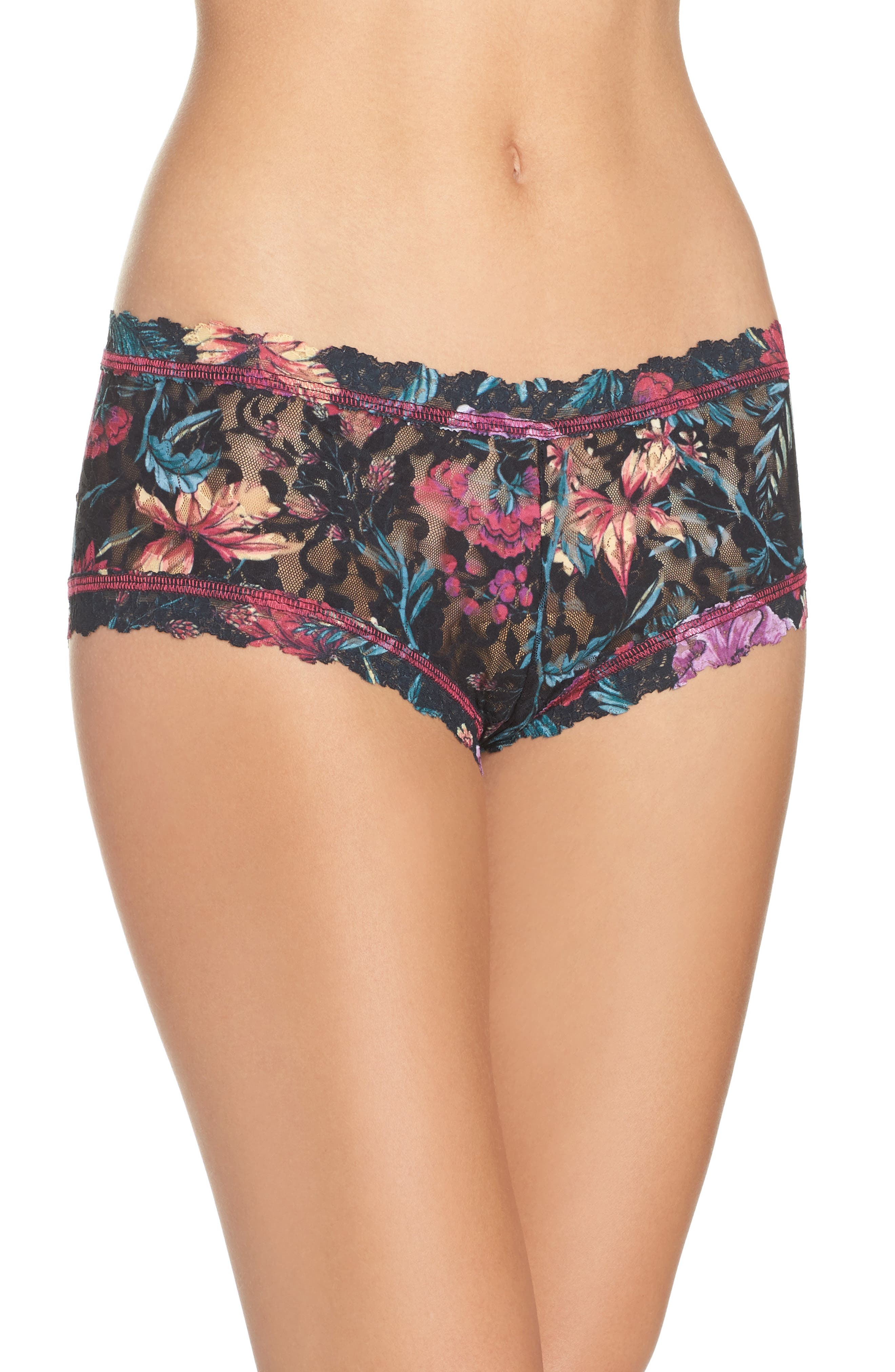 Moody Blooms Boyshorts,                             Main thumbnail 1, color,                             001