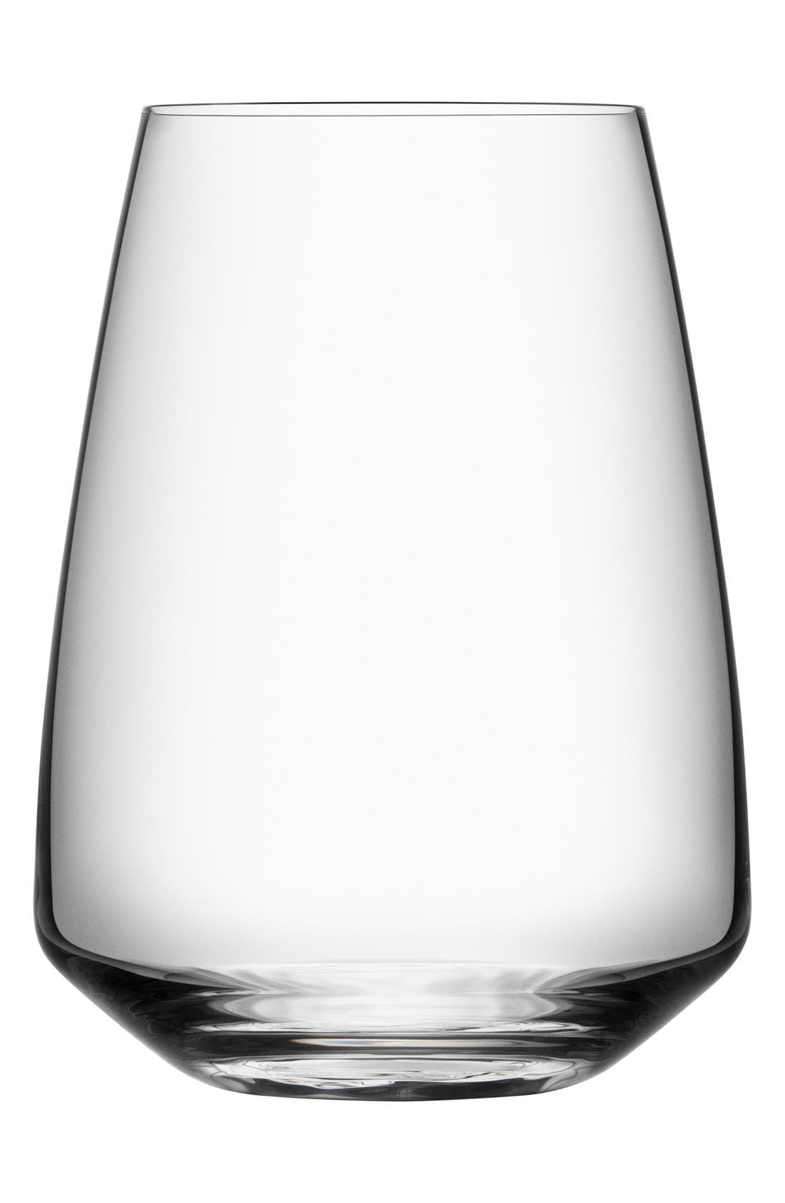 Pulse Set of 4 Leaded Crystal Stemless Wine Glasses,                         Main,                         color, 100