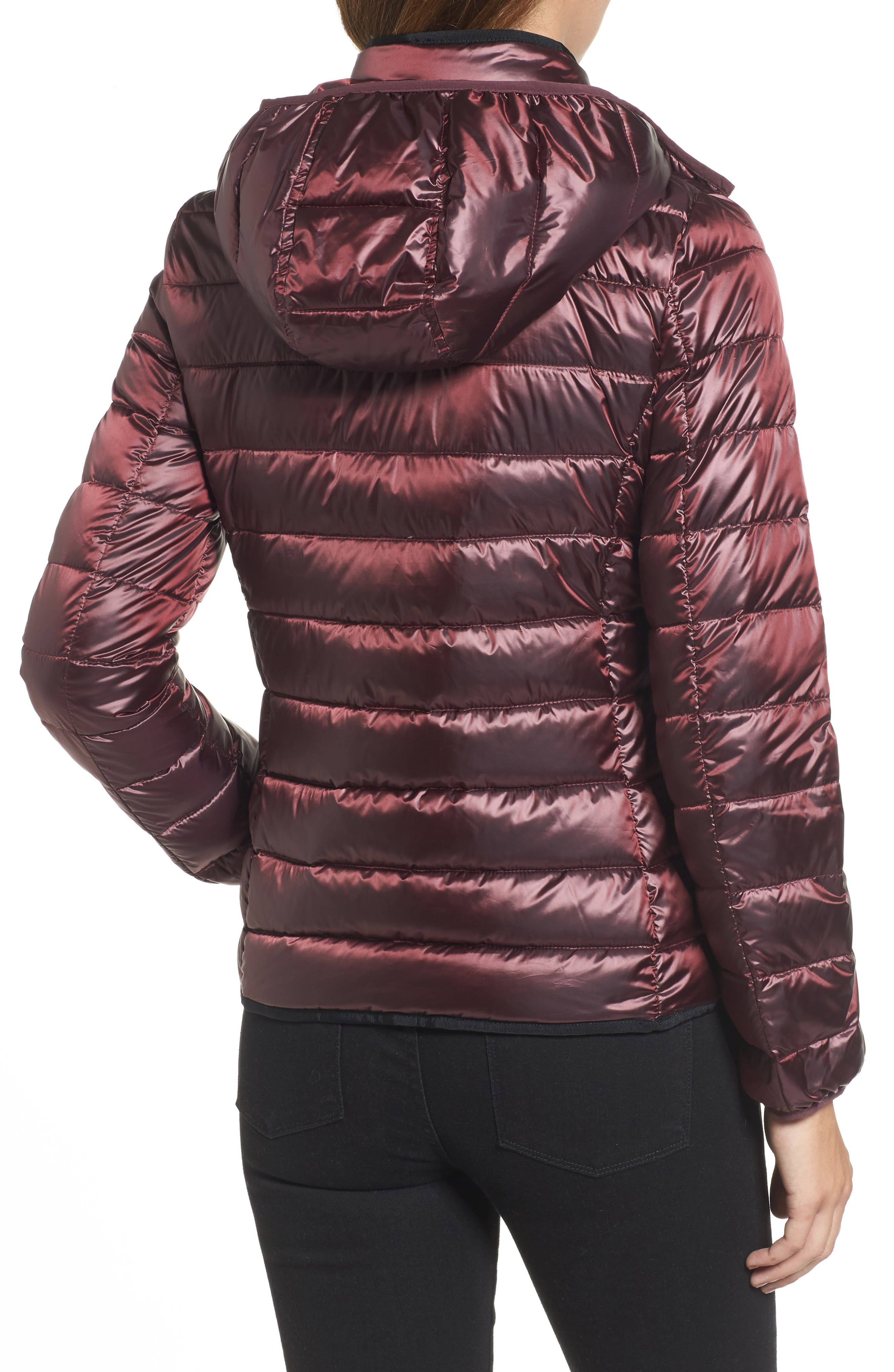 Packable Insulated Jacket with Removable Hood,                             Alternate thumbnail 8, color,