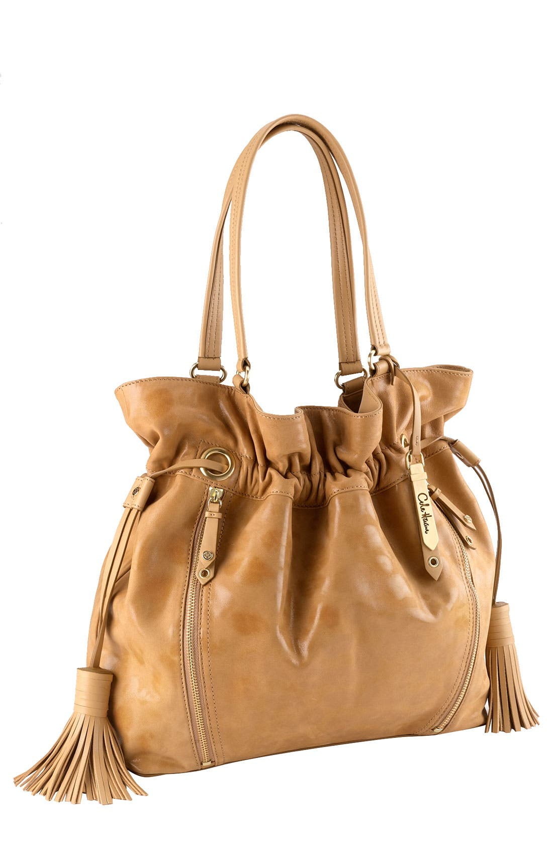 'Bailey' Pebbled Leather Drawstring Tote,                             Main thumbnail 9, color,