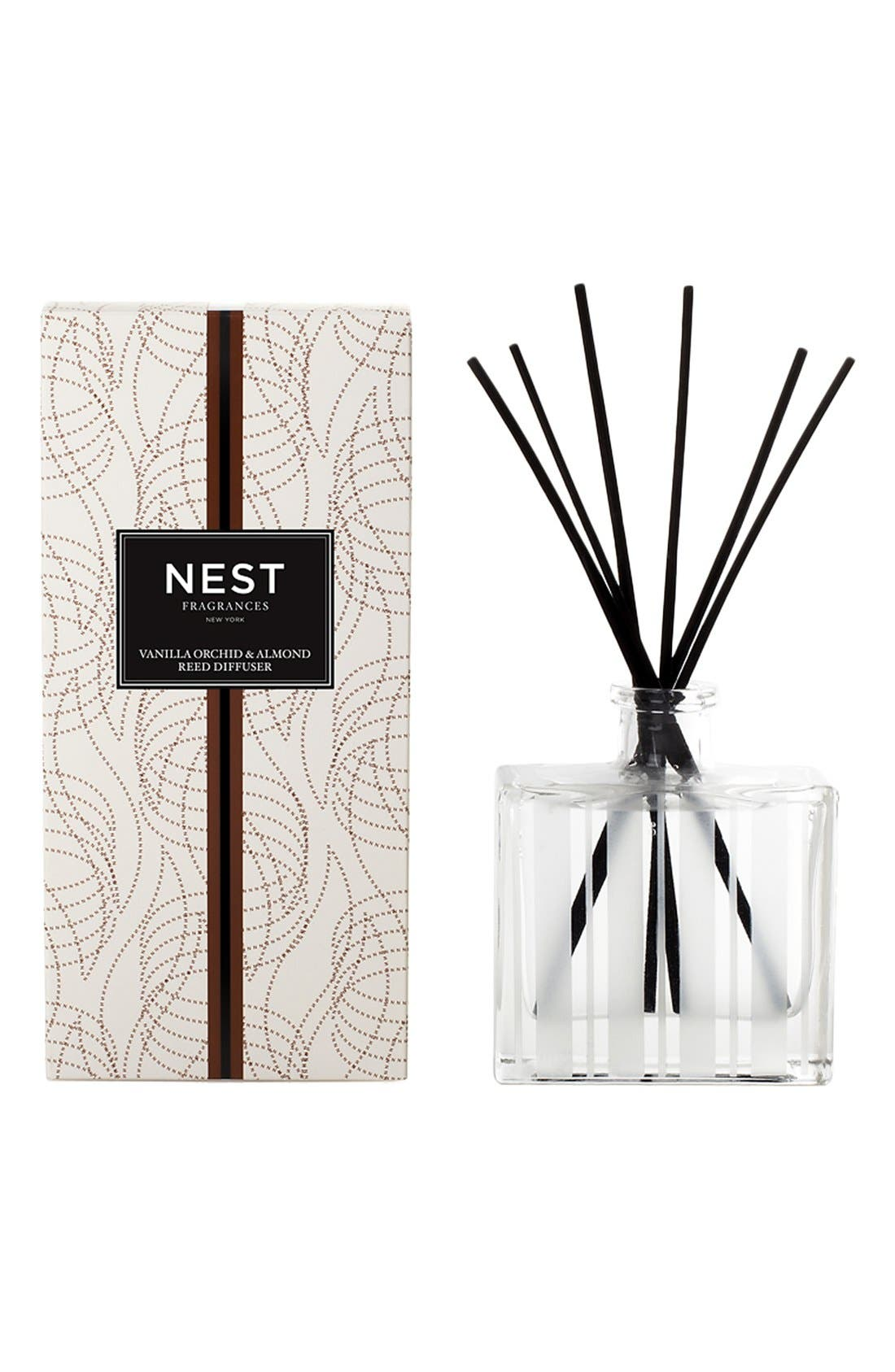 Vanilla Orchid & Almond Reed Diffuser,                             Alternate thumbnail 3, color,                             NO COLOR