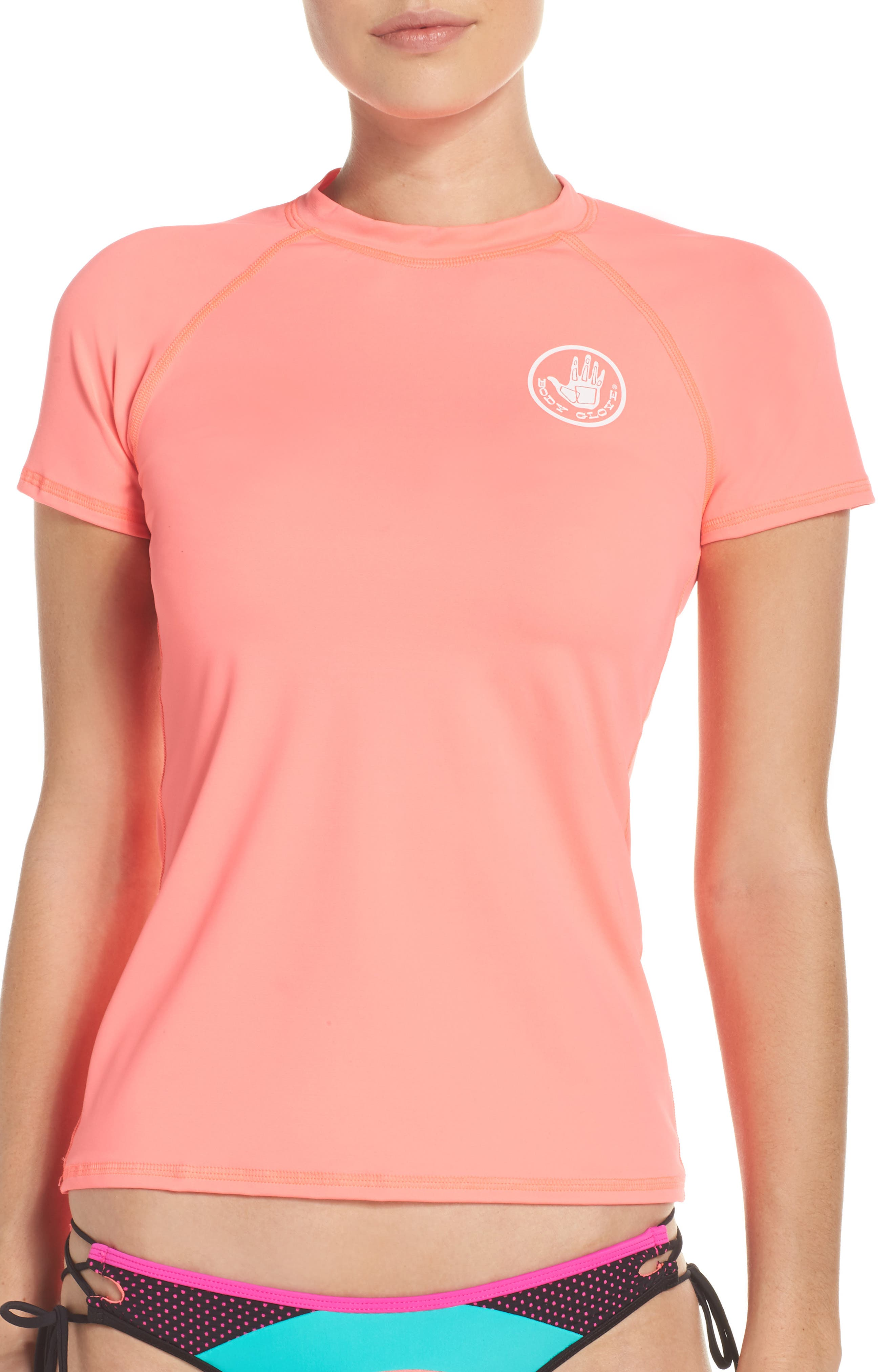 'Smoothies in Motion' Short Sleeve Rashguard,                             Alternate thumbnail 12, color,