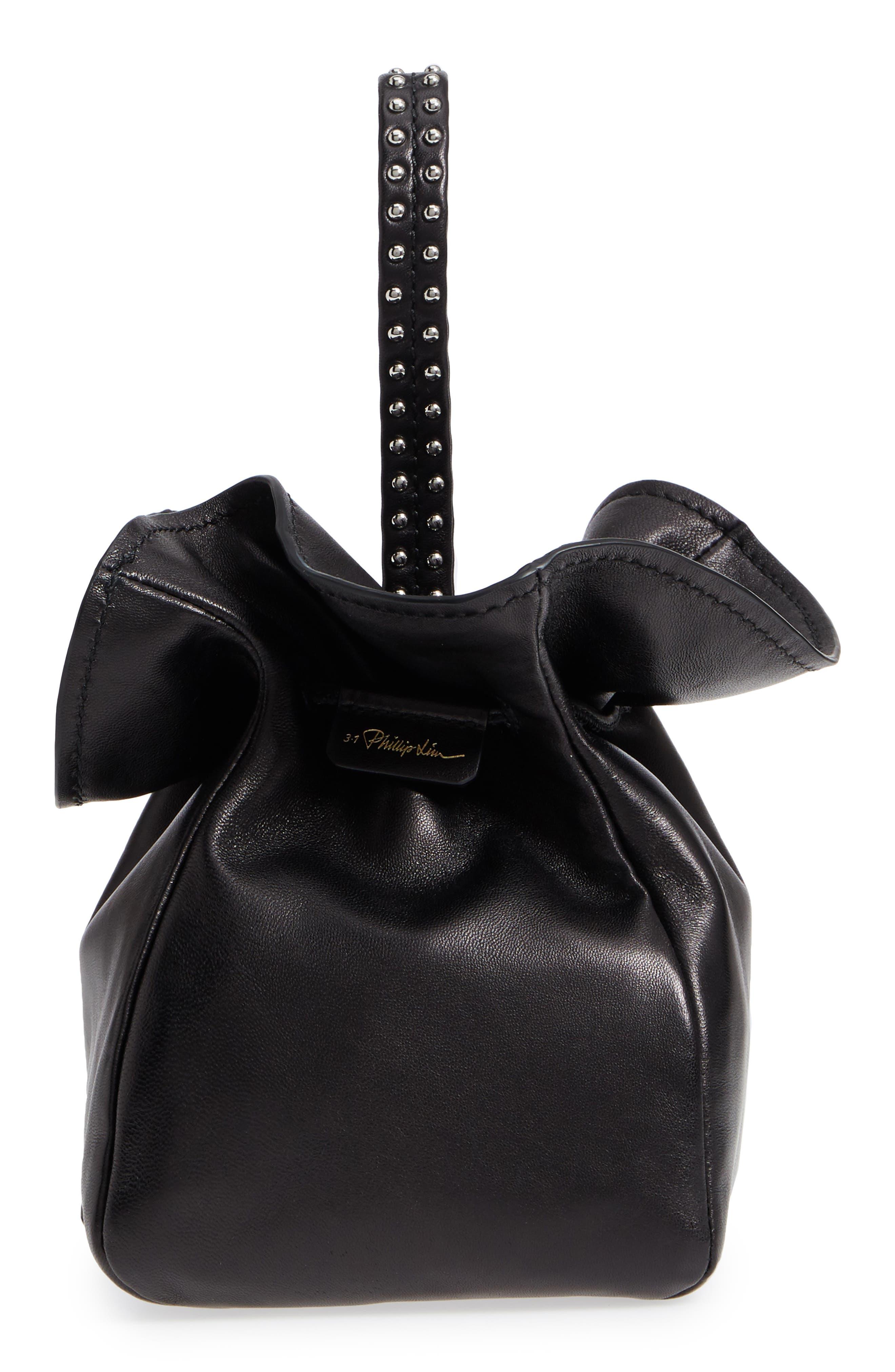 Ray Mini Lambskin Glove Pouch,                             Alternate thumbnail 5, color,