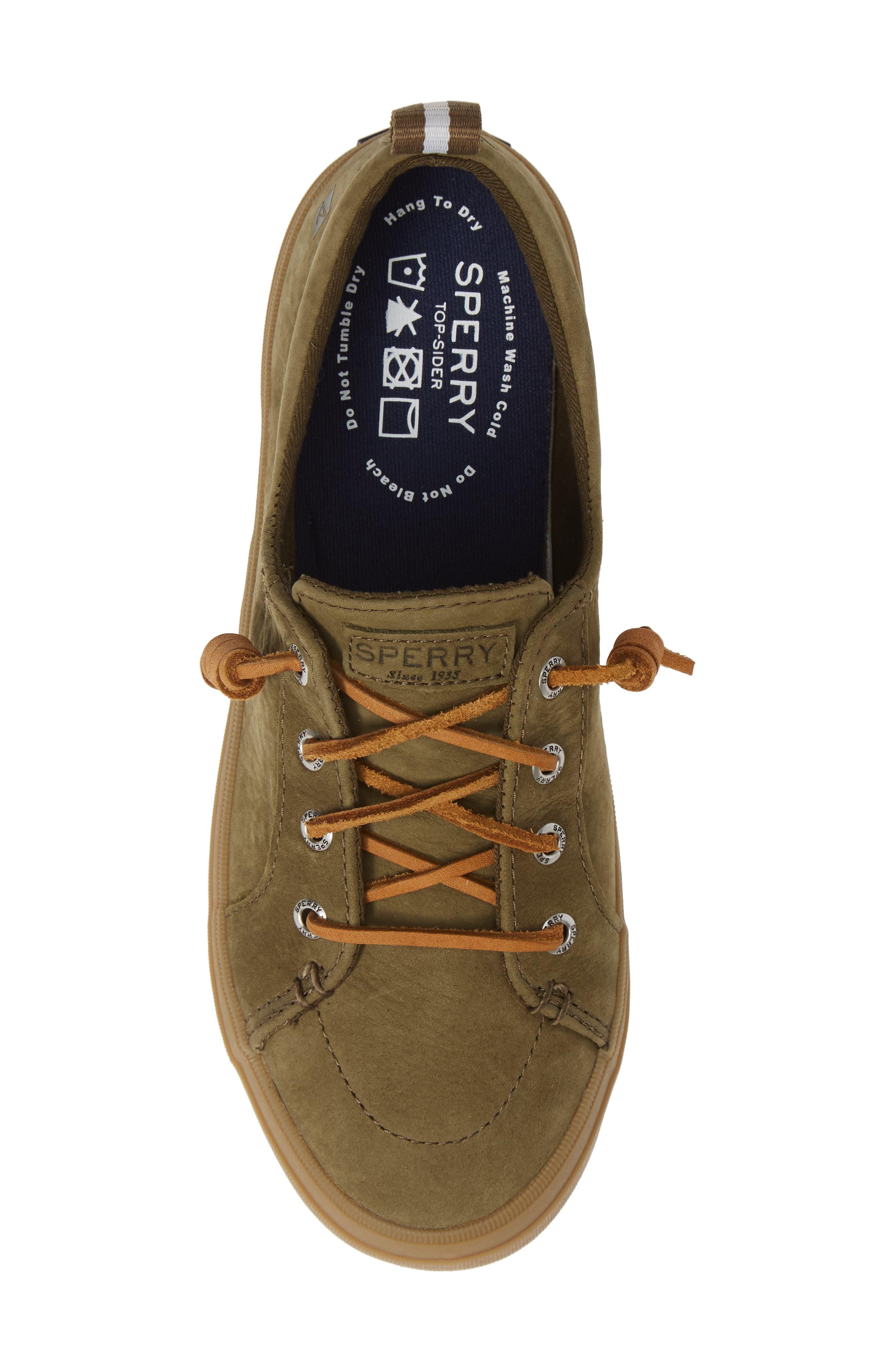 Crest Vibe Sneaker,                             Alternate thumbnail 5, color,                             OLIVE LEATHER