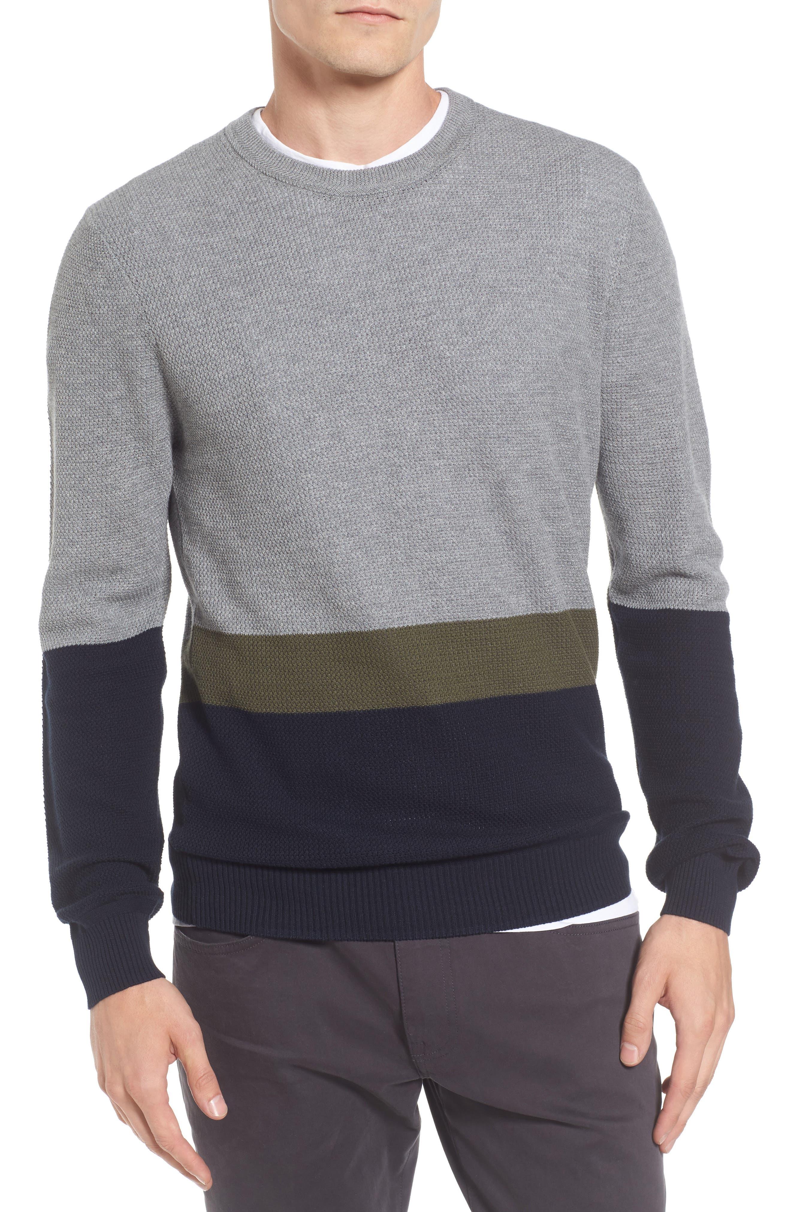 Textured Colorblock Sweater,                             Main thumbnail 1, color,                             036