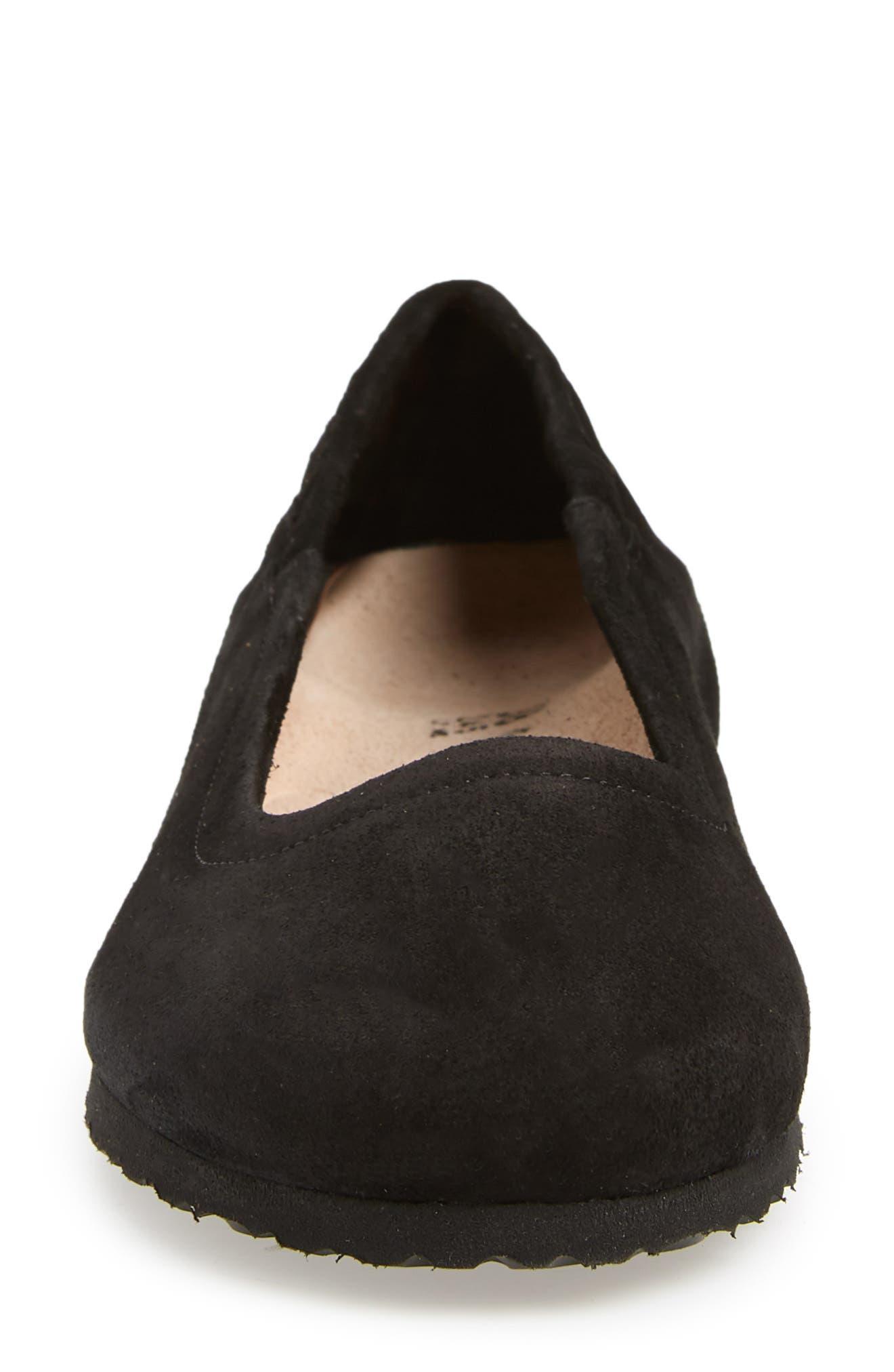 Celina Ballet Flat,                             Alternate thumbnail 4, color,                             BLACK SUEDE
