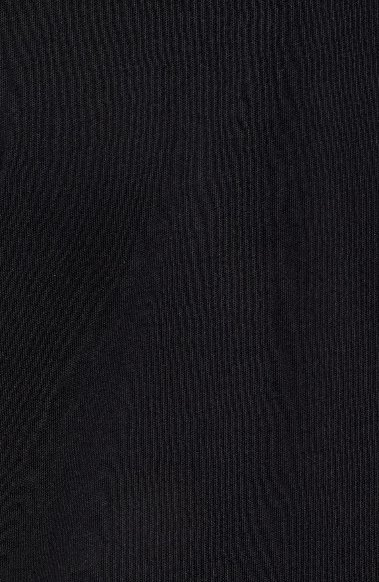 3-Stripes T-Shirt,                             Alternate thumbnail 5, color,                             BLACK