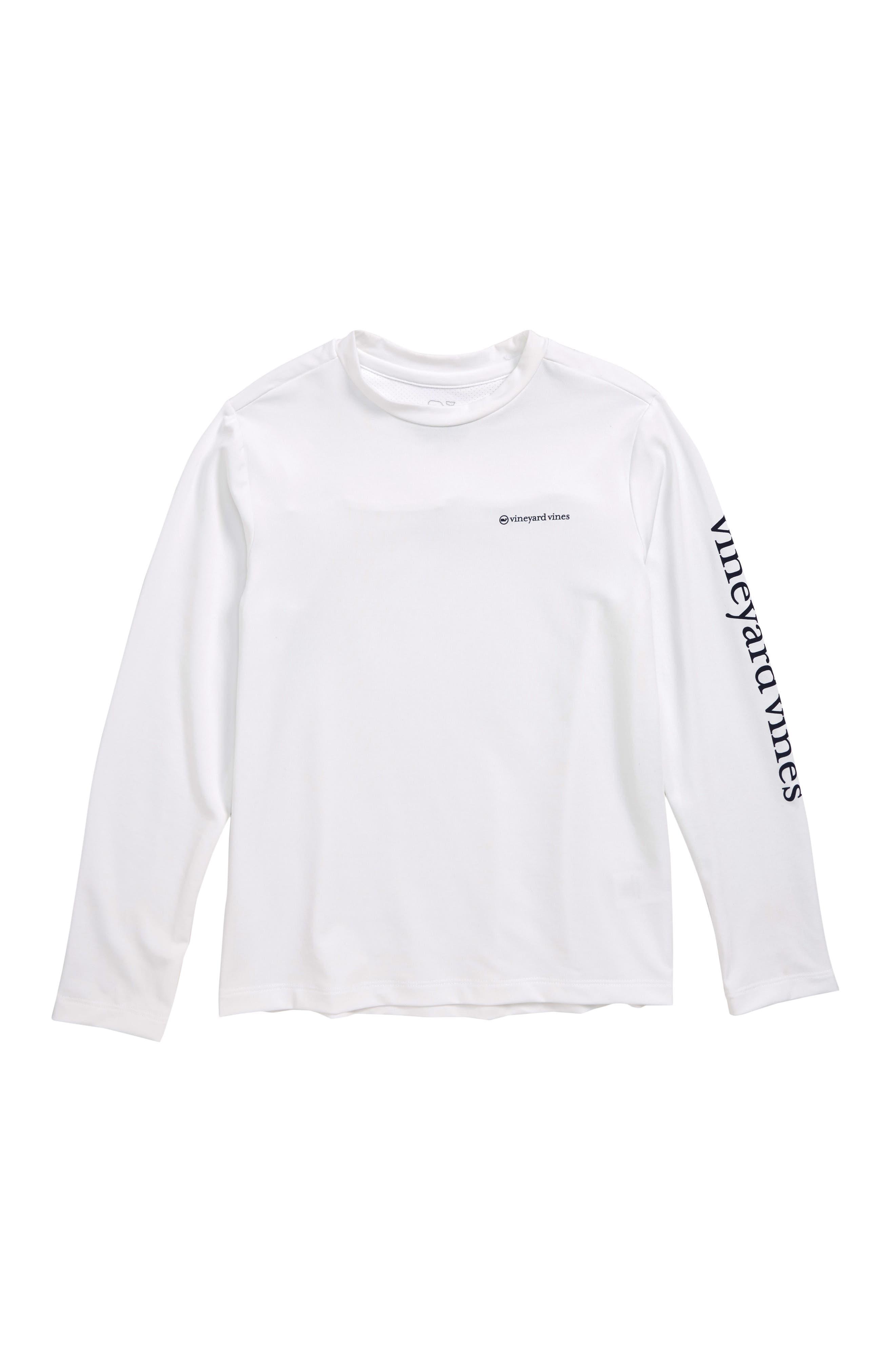 Long Sleeve Vented Boating T-Shirt,                             Main thumbnail 1, color,                             WHITE CAP