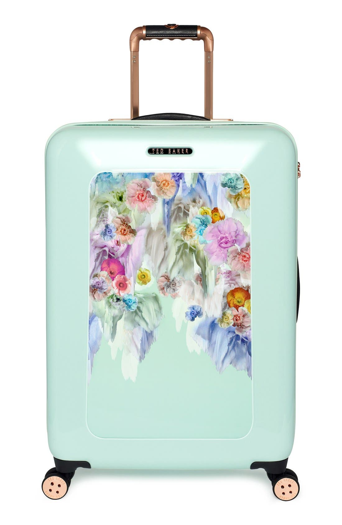 'Medium Sugar Sweet Florals' Hard Shell Suitcase,                         Main,                         color, 440