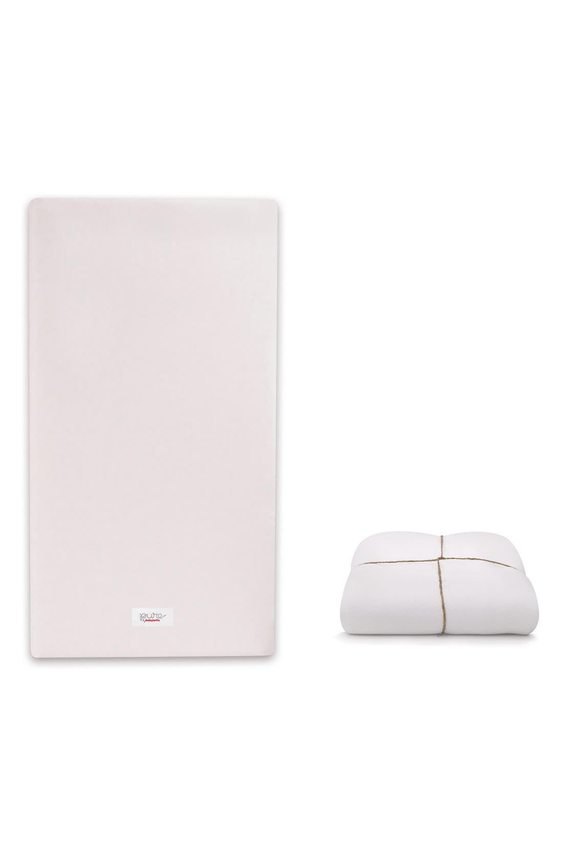 'Pure Core' Nontoxic Crib Mattress & Water Repellent SMART Cover,                             Main thumbnail 1, color,                             100
