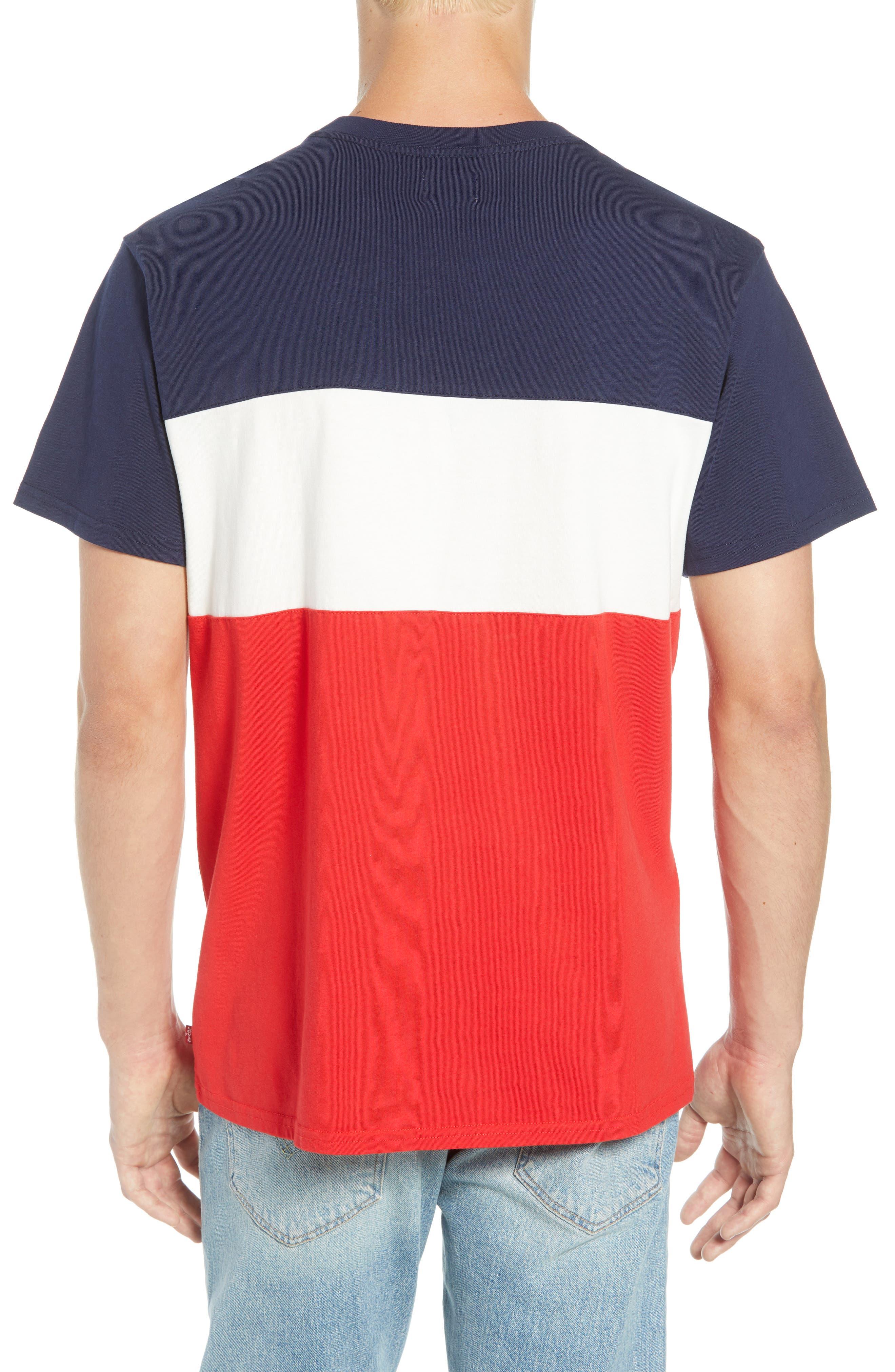 Colorblock Vintage T-Shirt,                             Alternate thumbnail 2, color,                             PEACOAT MARSHMALLOW