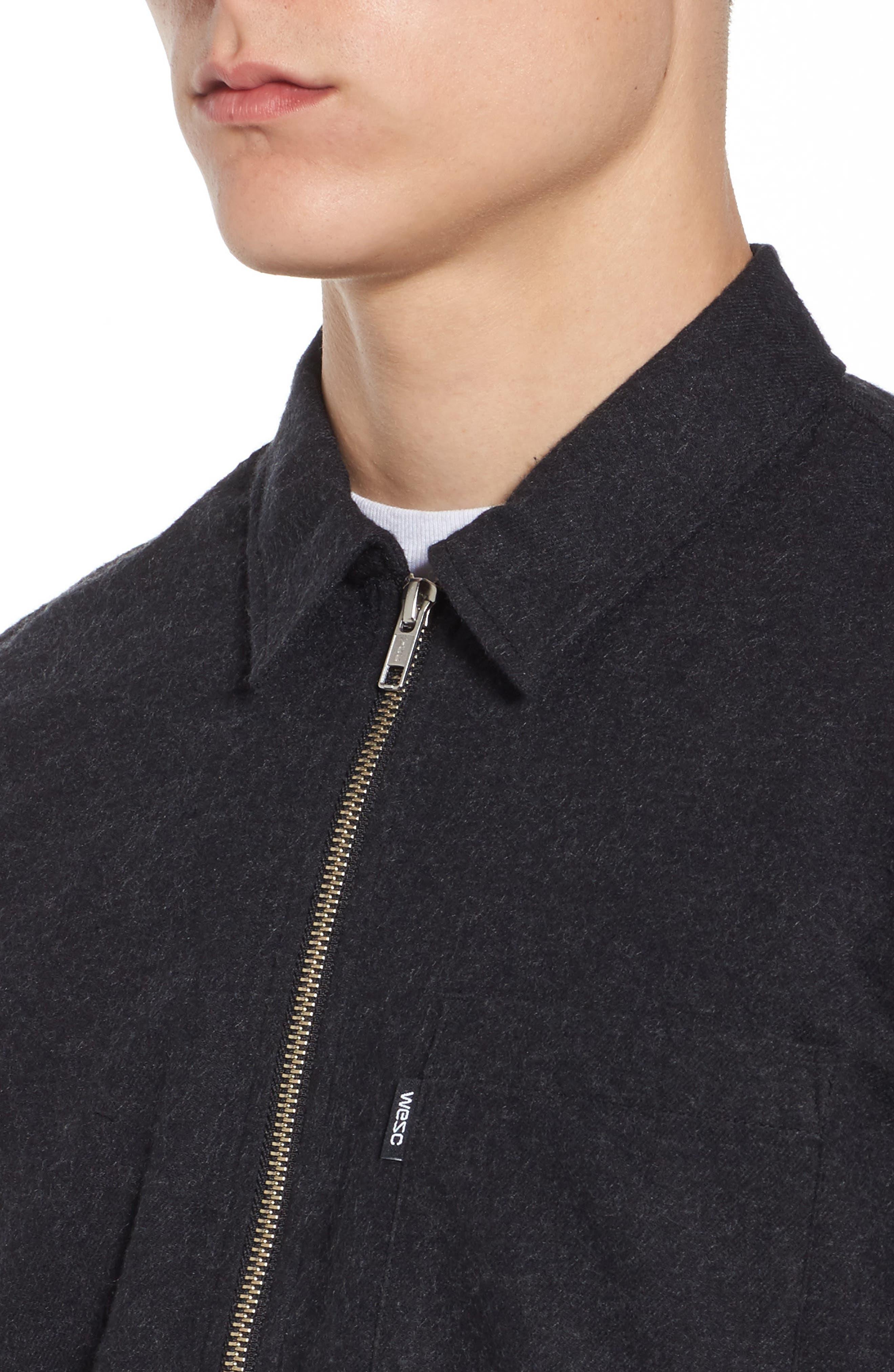 Nicks Flannel Zip Overshirt,                             Alternate thumbnail 4, color,                             001