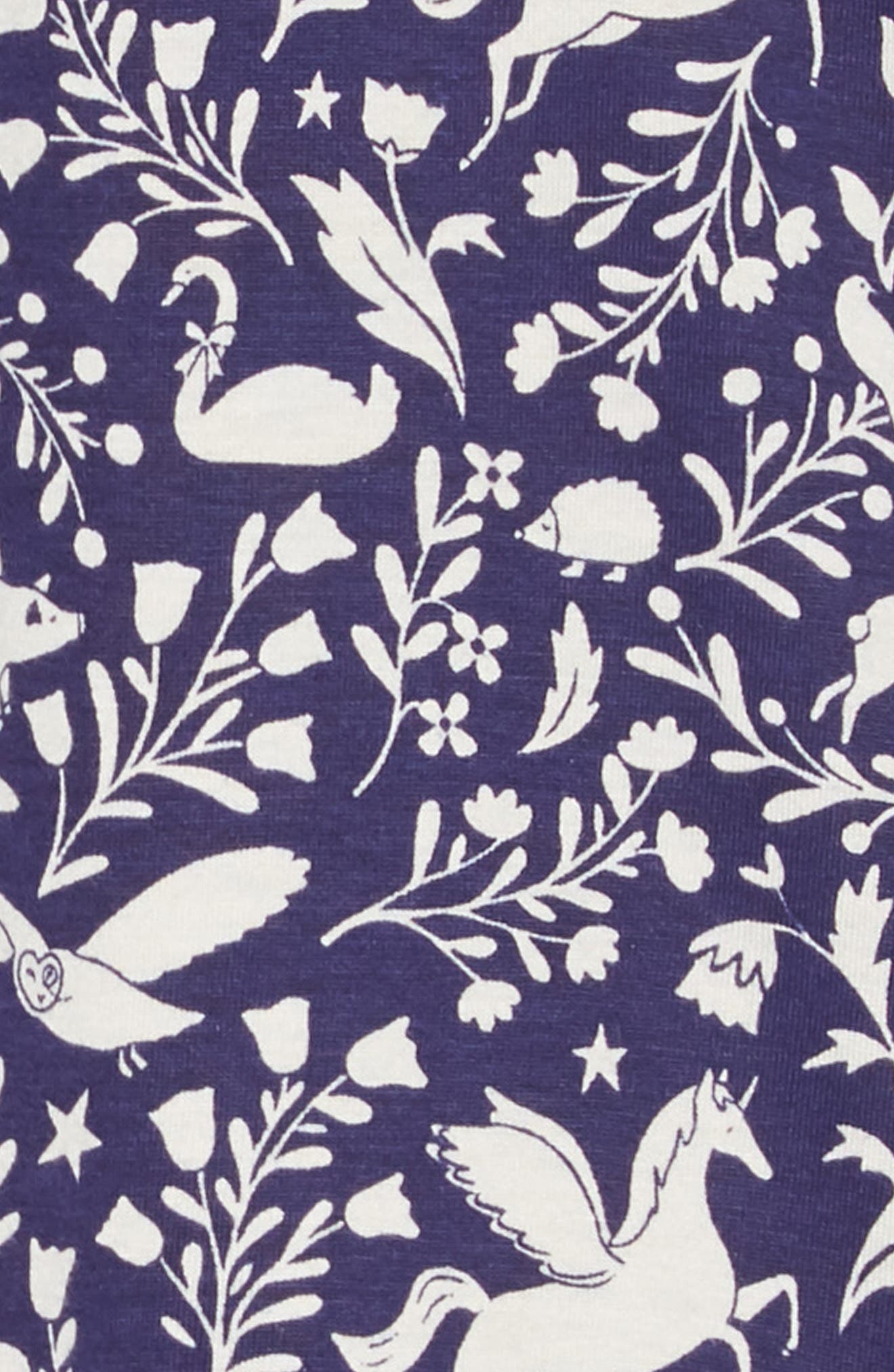 Print Jersey Dress,                             Alternate thumbnail 3, color,                             PRUSSIAN BLUE PECULIAR PETS
