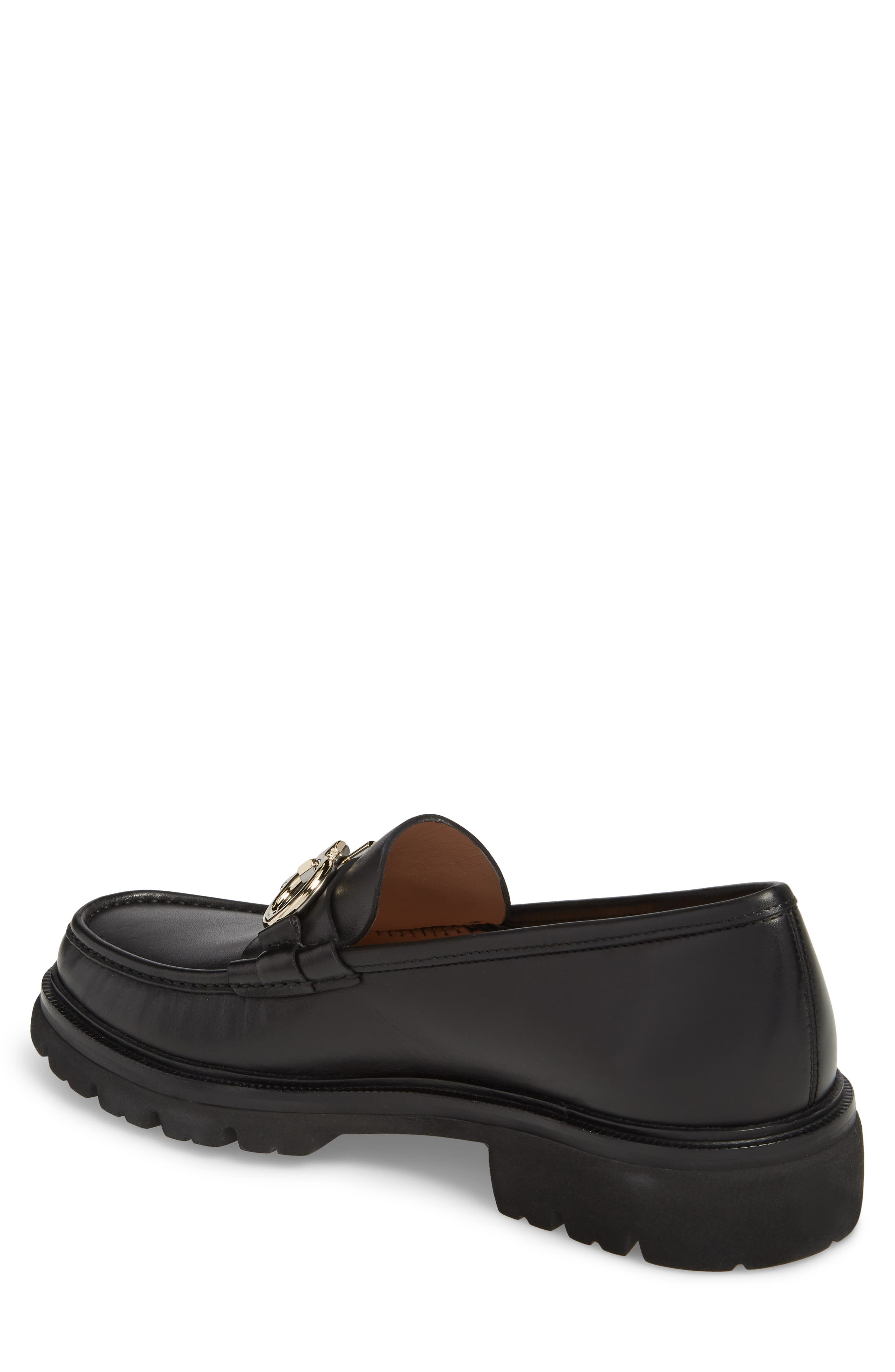 Bleecker Reversible Bit Lugged Loafer,                             Alternate thumbnail 2, color,                             NERO LEATHER