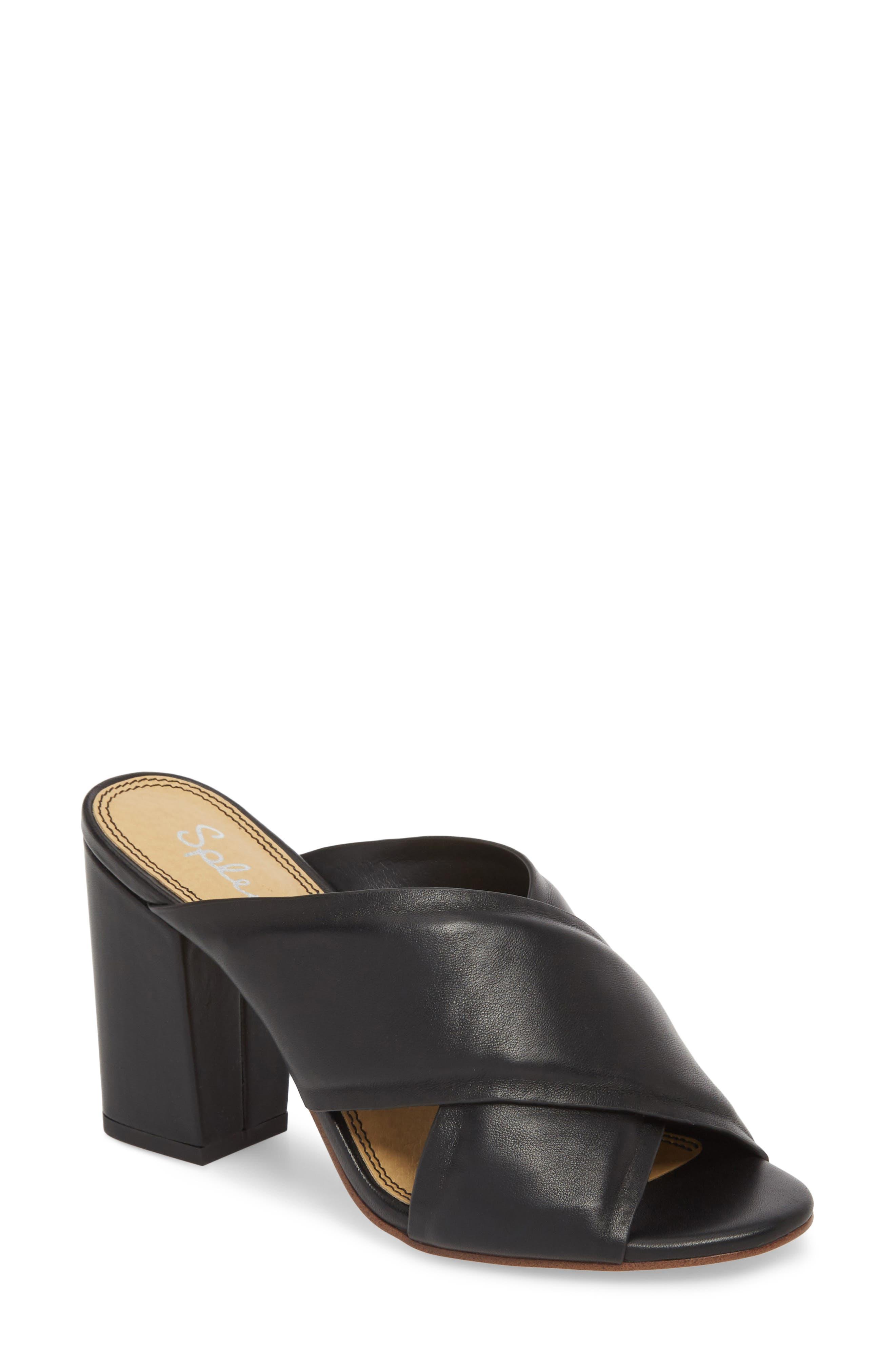 Norris Sandal,                         Main,                         color, BLACK LEATHER