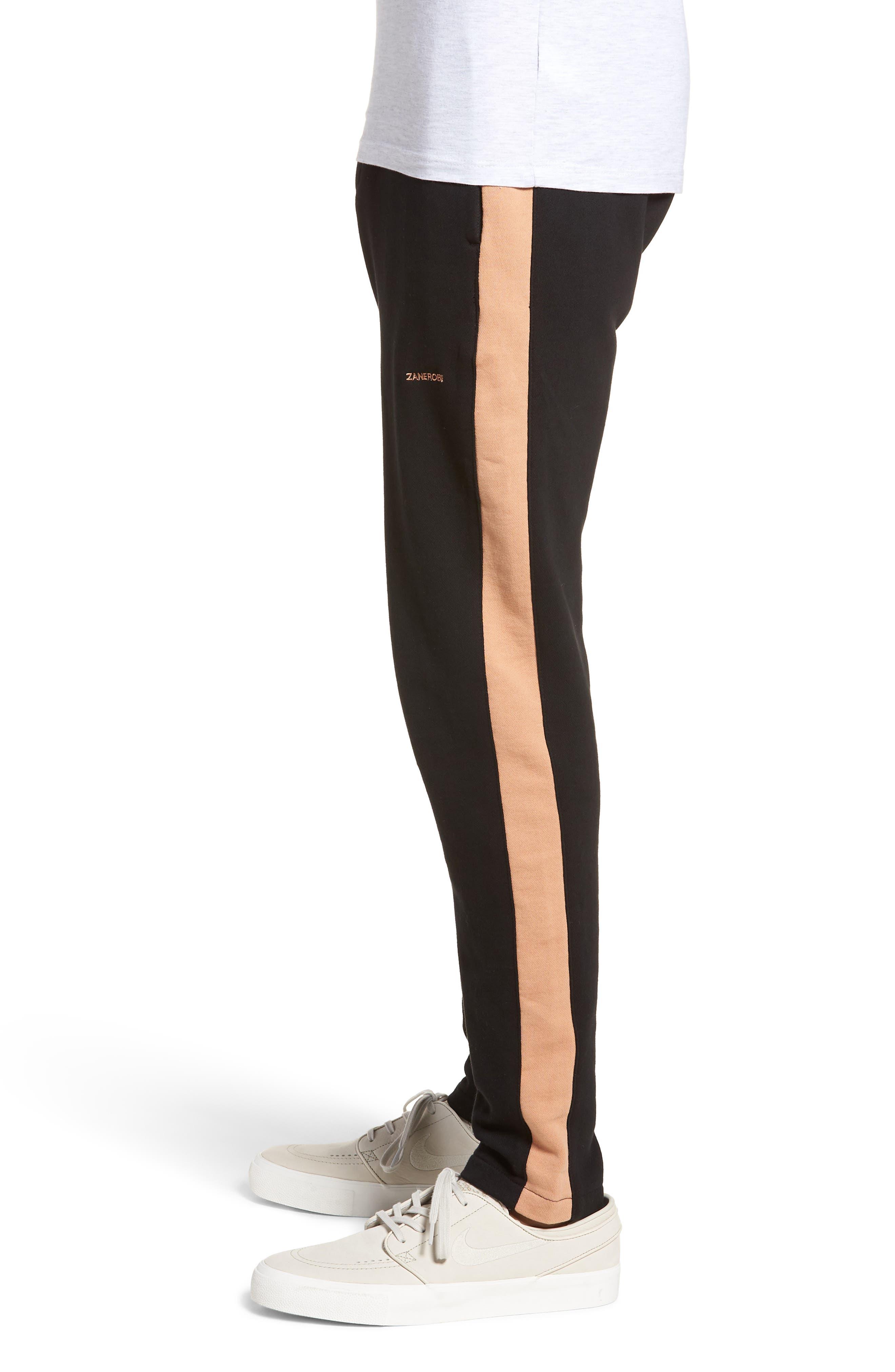 Jumpshot Slim Track Pants,                             Alternate thumbnail 3, color,                             BLACK/ BISCUIT