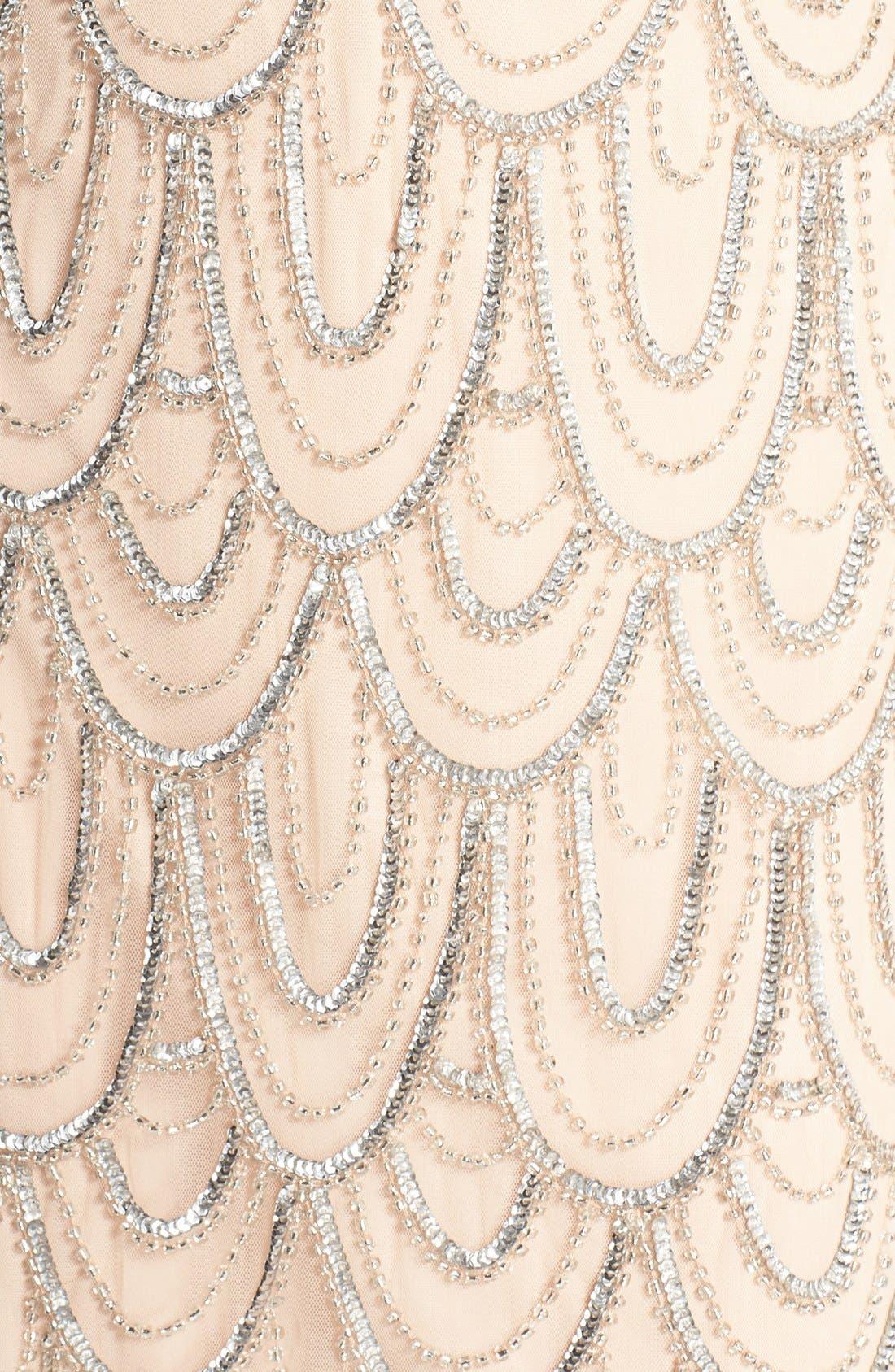 Embellished Mesh Sheath Dress,                             Alternate thumbnail 57, color,