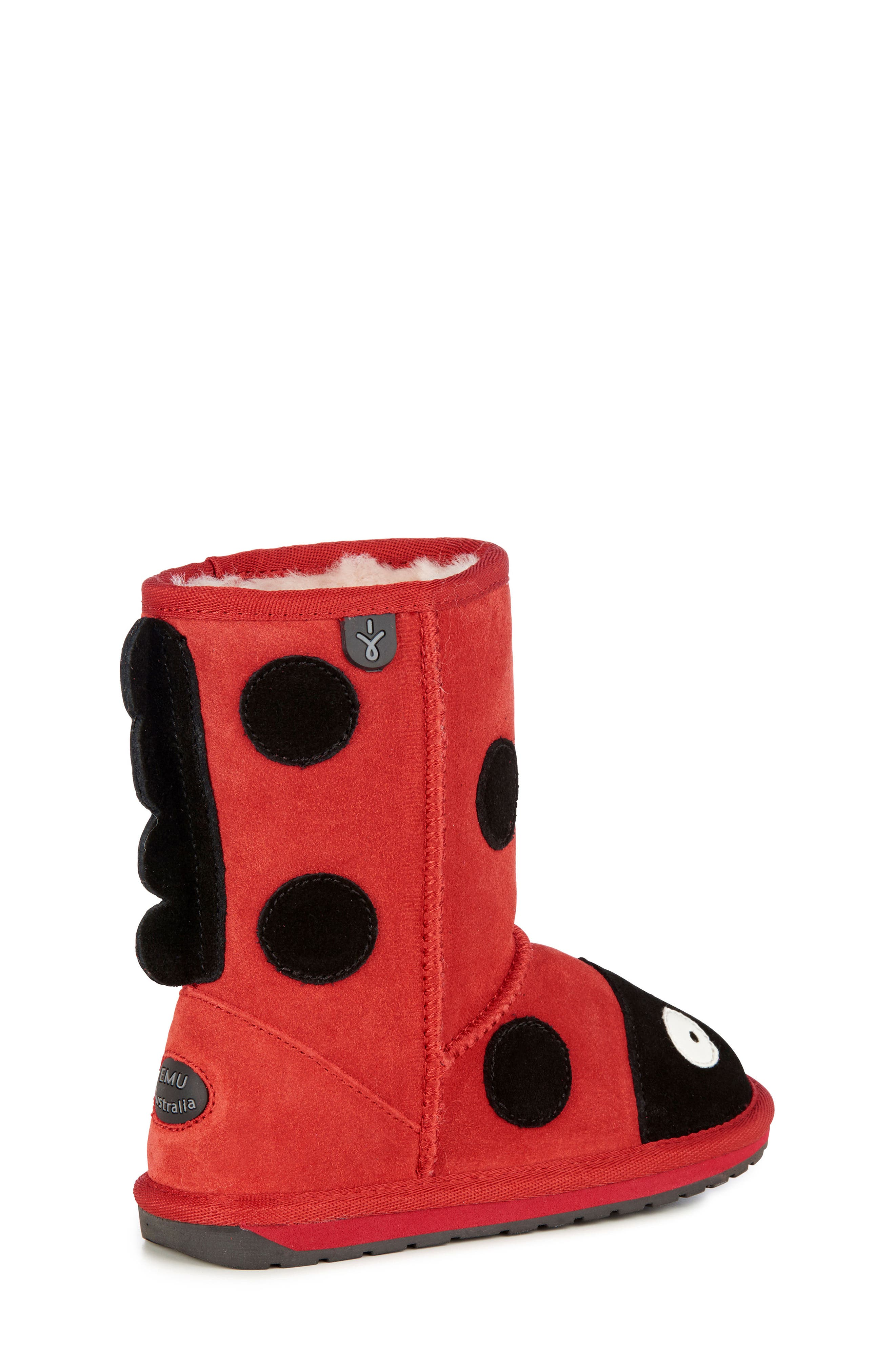 Little Creatures - Ladybug Boot,                             Alternate thumbnail 6, color,                             RED