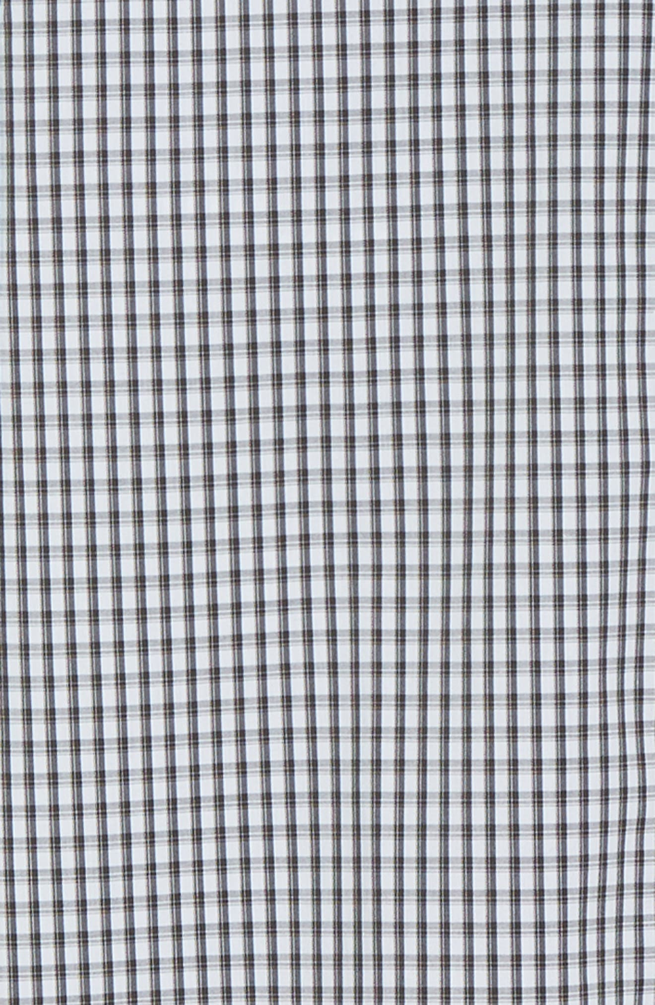 Regular Fit Gingham Non-Iron Sport Shirt,                             Alternate thumbnail 6, color,                             CHARCOAL