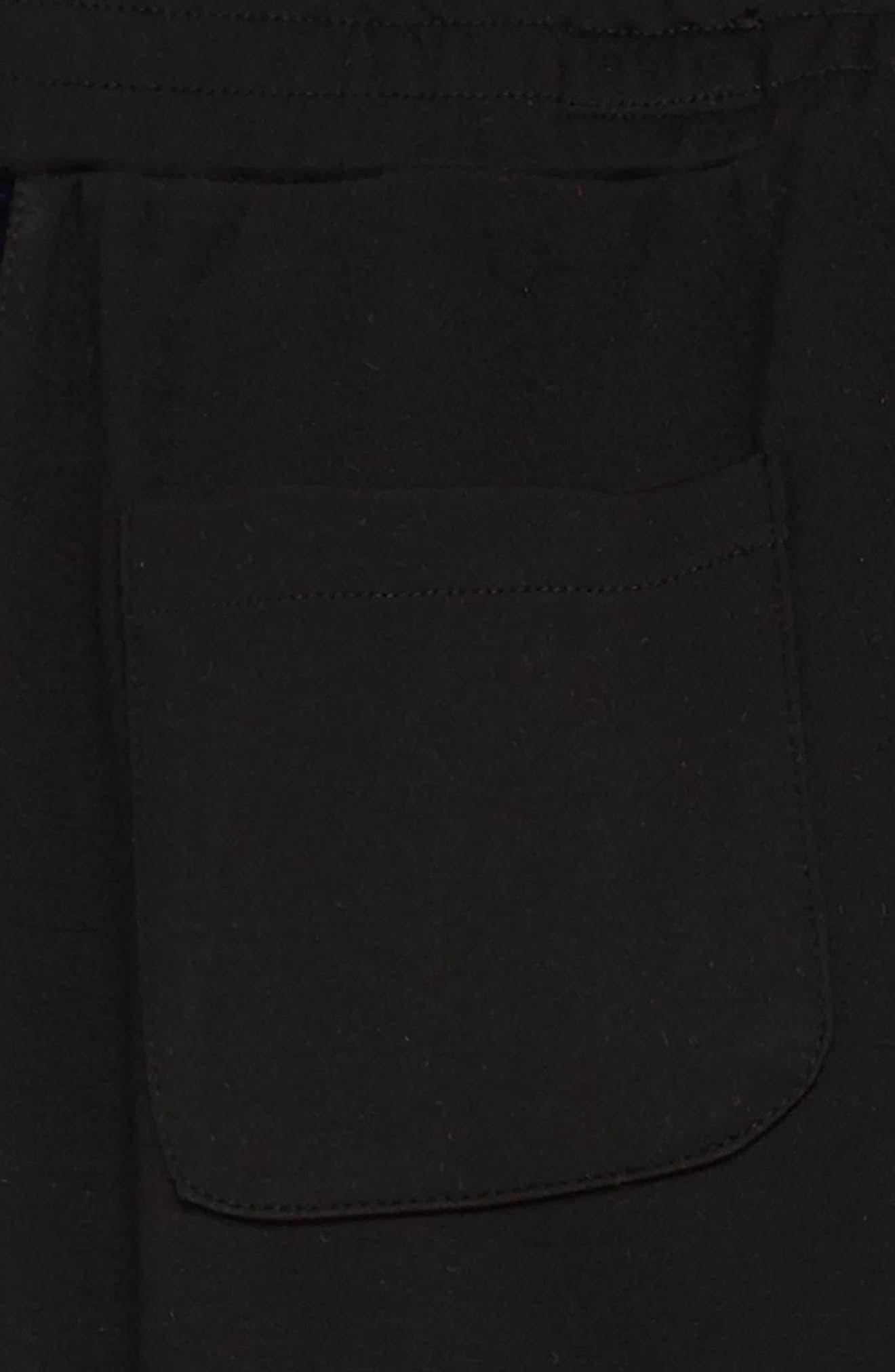 The Kingston Velvet Trim Pants,                             Alternate thumbnail 3, color,                             EBONY